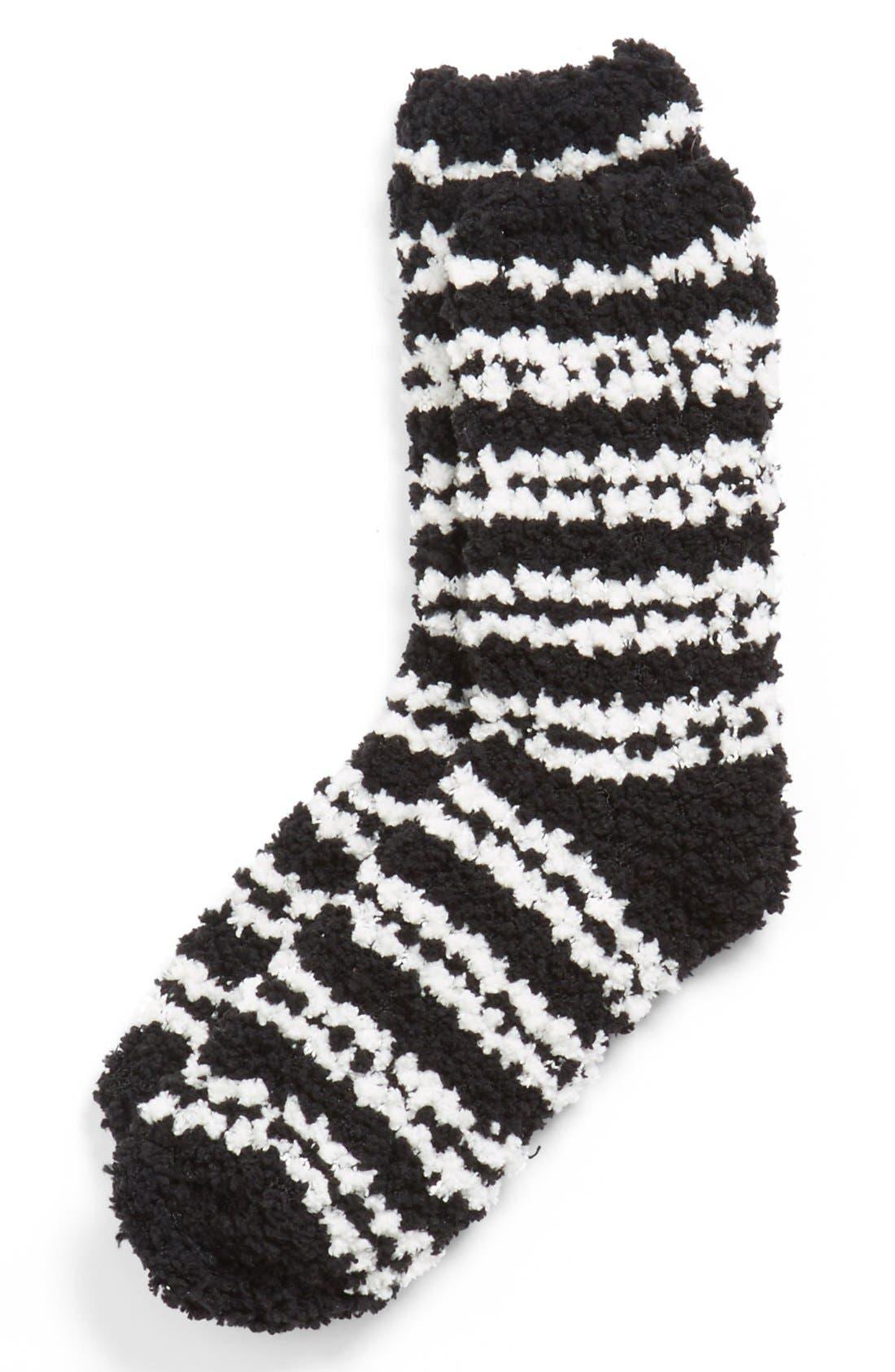 Alternate Image 1 Selected - BP. 'Cloud' Stripe Socks (Juniors)