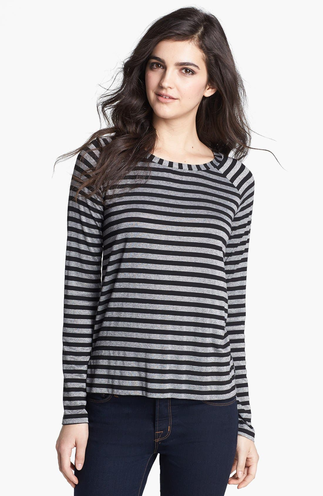 Alternate Image 1 Selected - Splendid Stripe Metallic Pullover