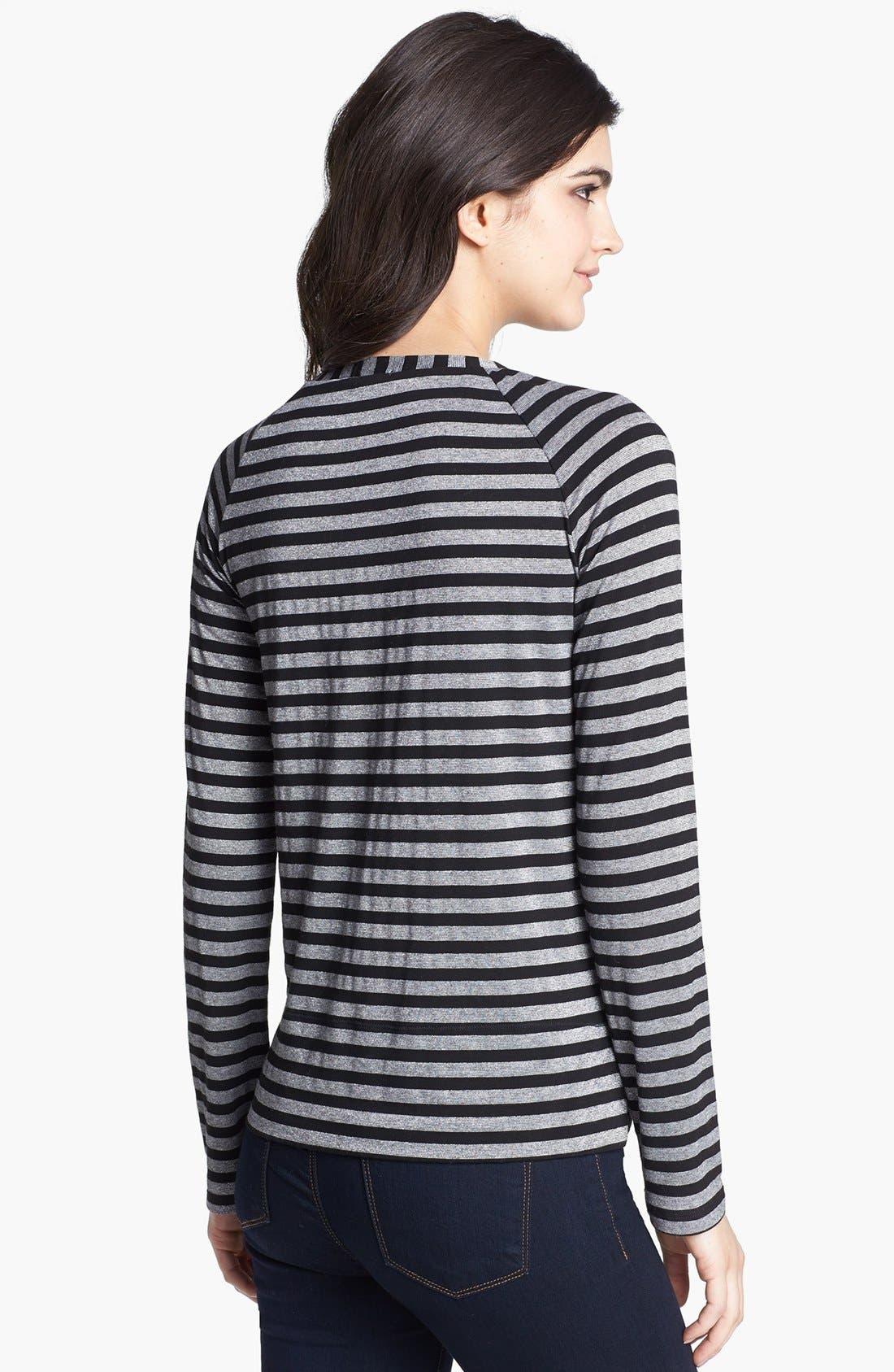 Alternate Image 2  - Splendid Stripe Metallic Pullover