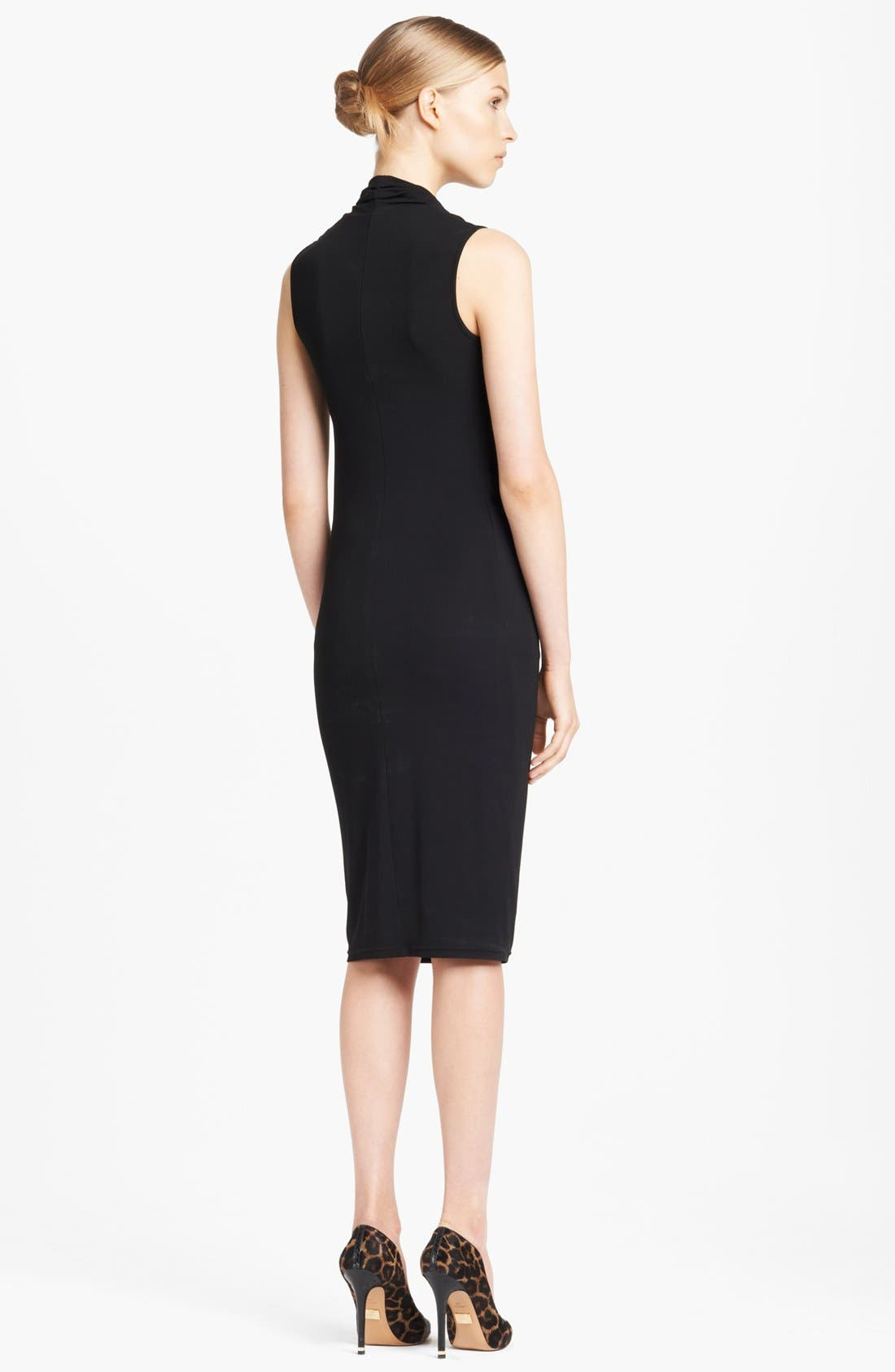 Alternate Image 2  - Michael Kors Cowl Neck Ruched Jersey Dress