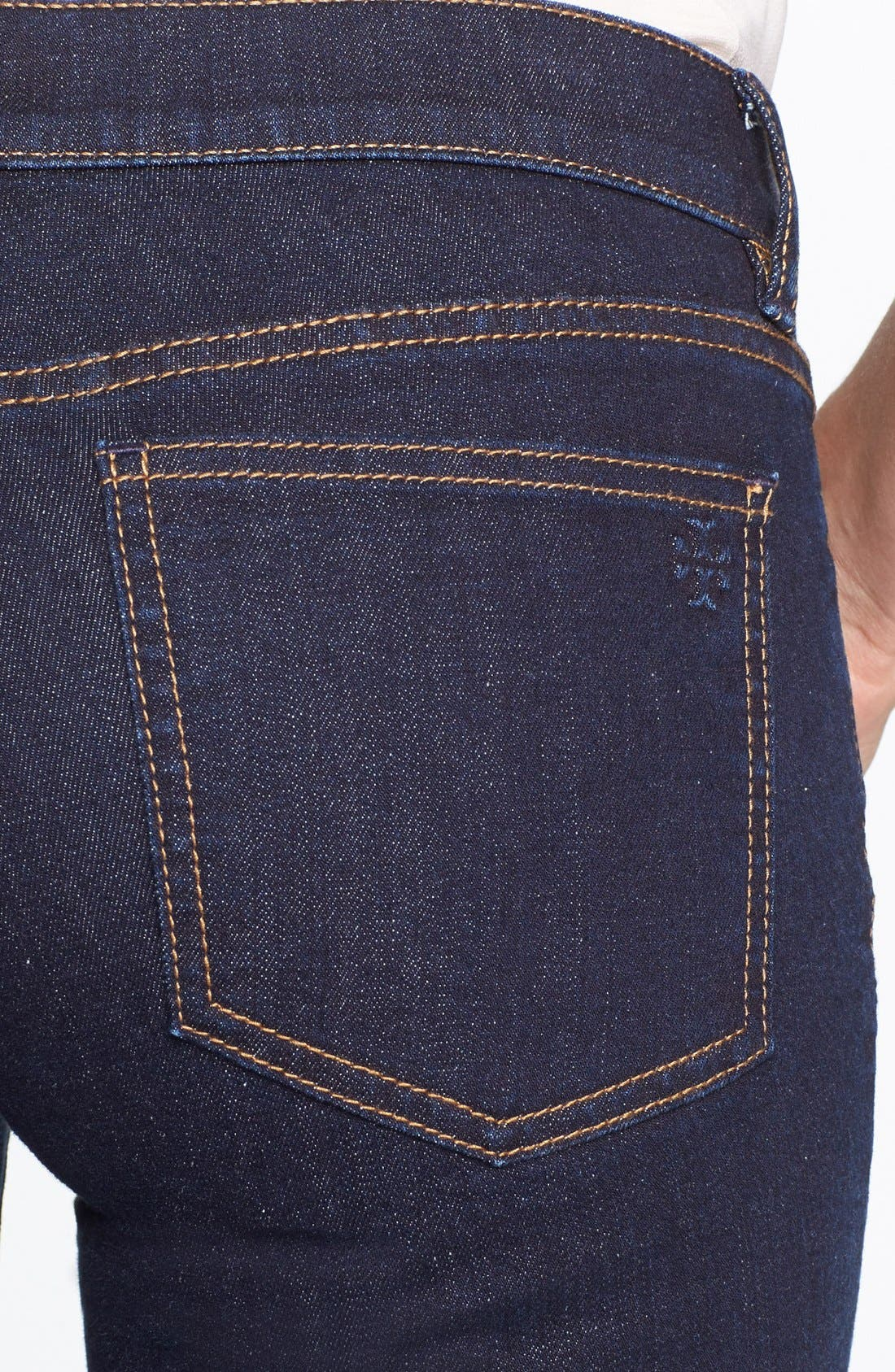 Alternate Image 3  - Tory Burch Stretch Straight Leg Jeans
