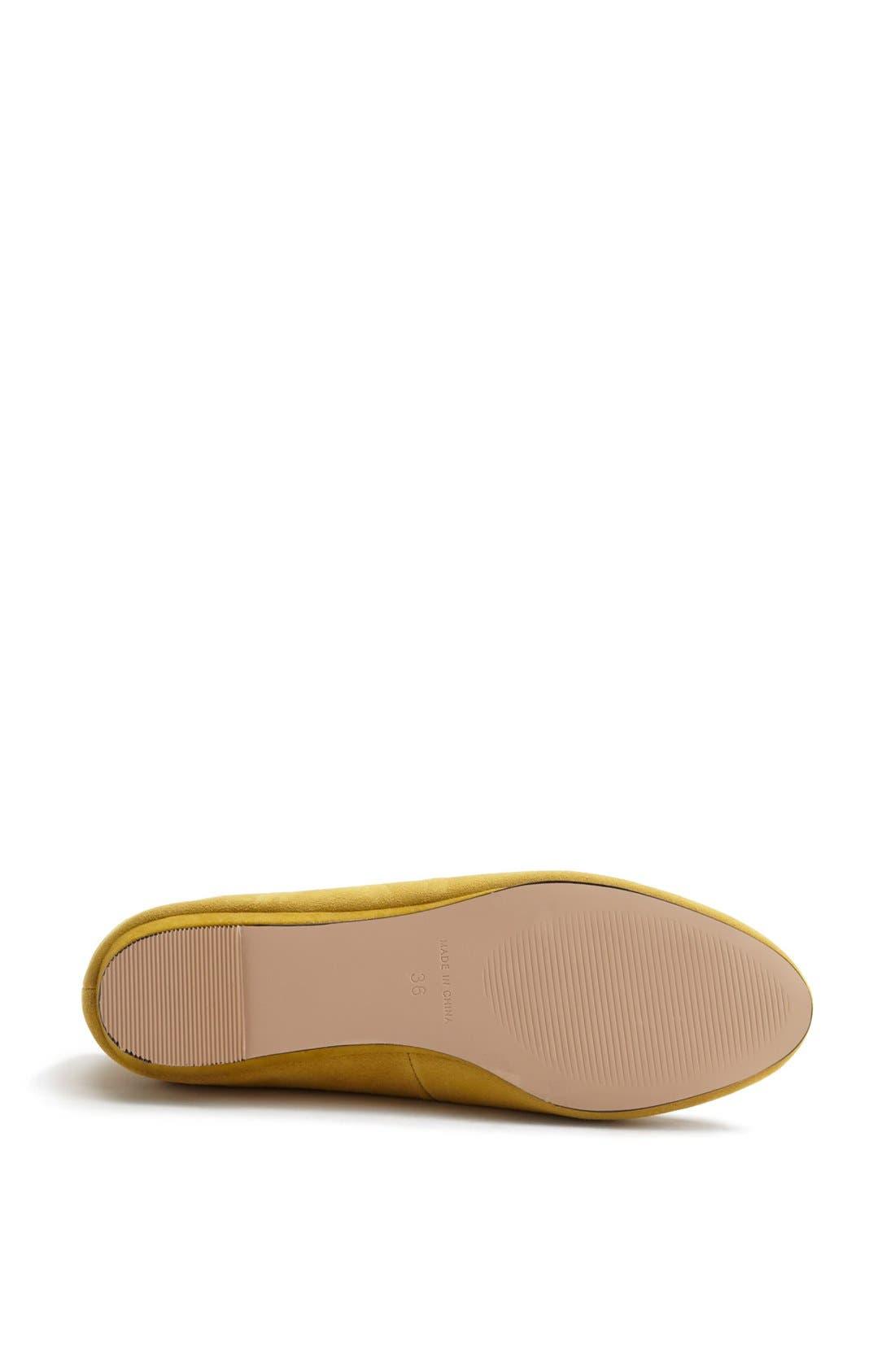 'Mello Mini Wedge' Court Shoe,                             Alternate thumbnail 4, color,                             Mustard