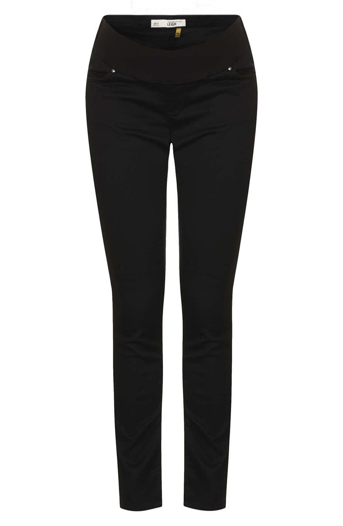 'Leigh' Maternity Jeans,                         Main,                         color, Black