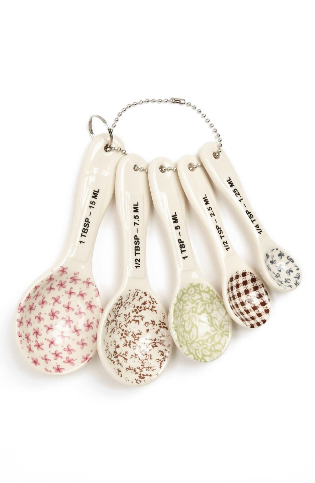 Magenta Measuring Spoons,                         Main,                         color, White