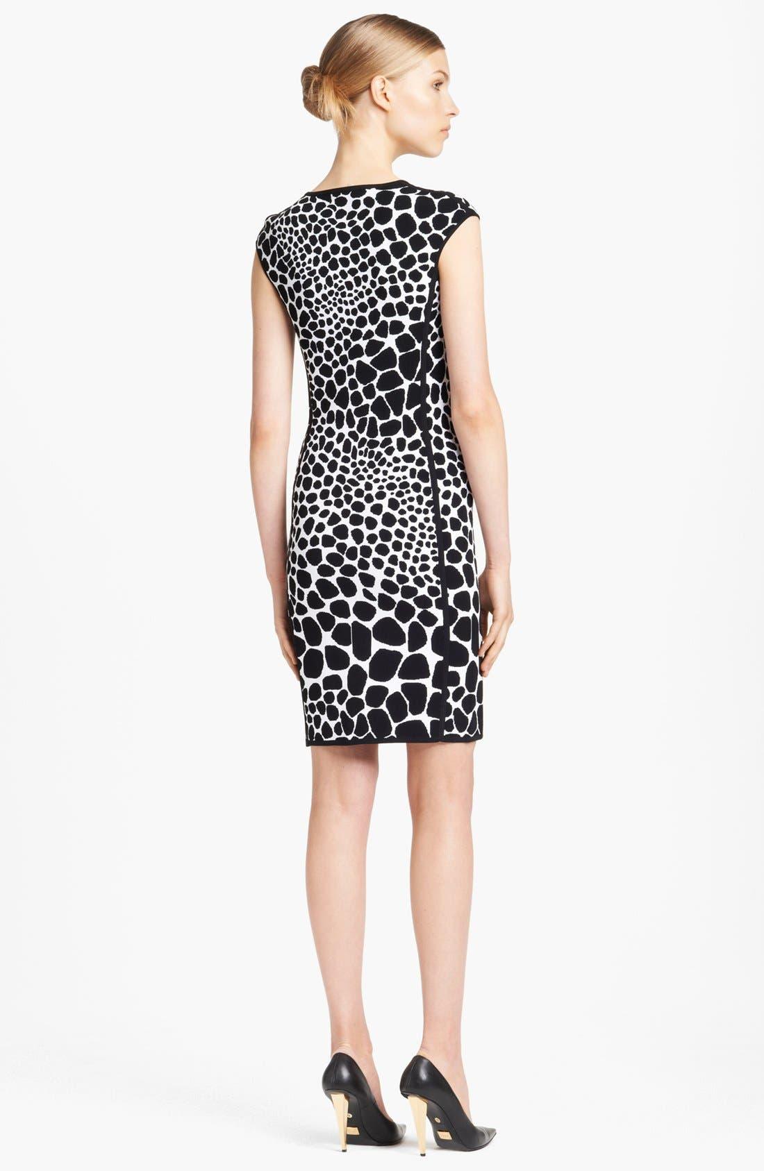 Alternate Image 2  - Michael Kors Giraffe Pattern Knit Dress