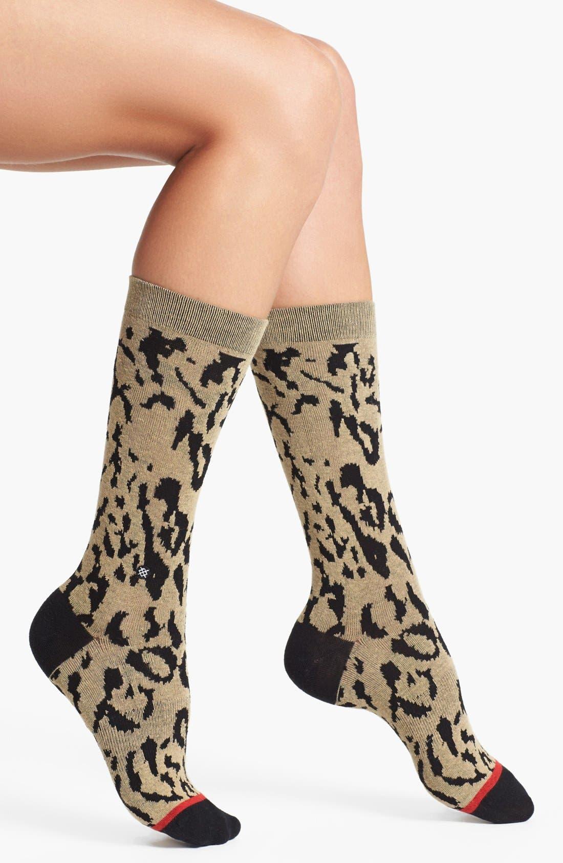 Alternate Image 1 Selected - Stance 'Cheetah' Crew Socks