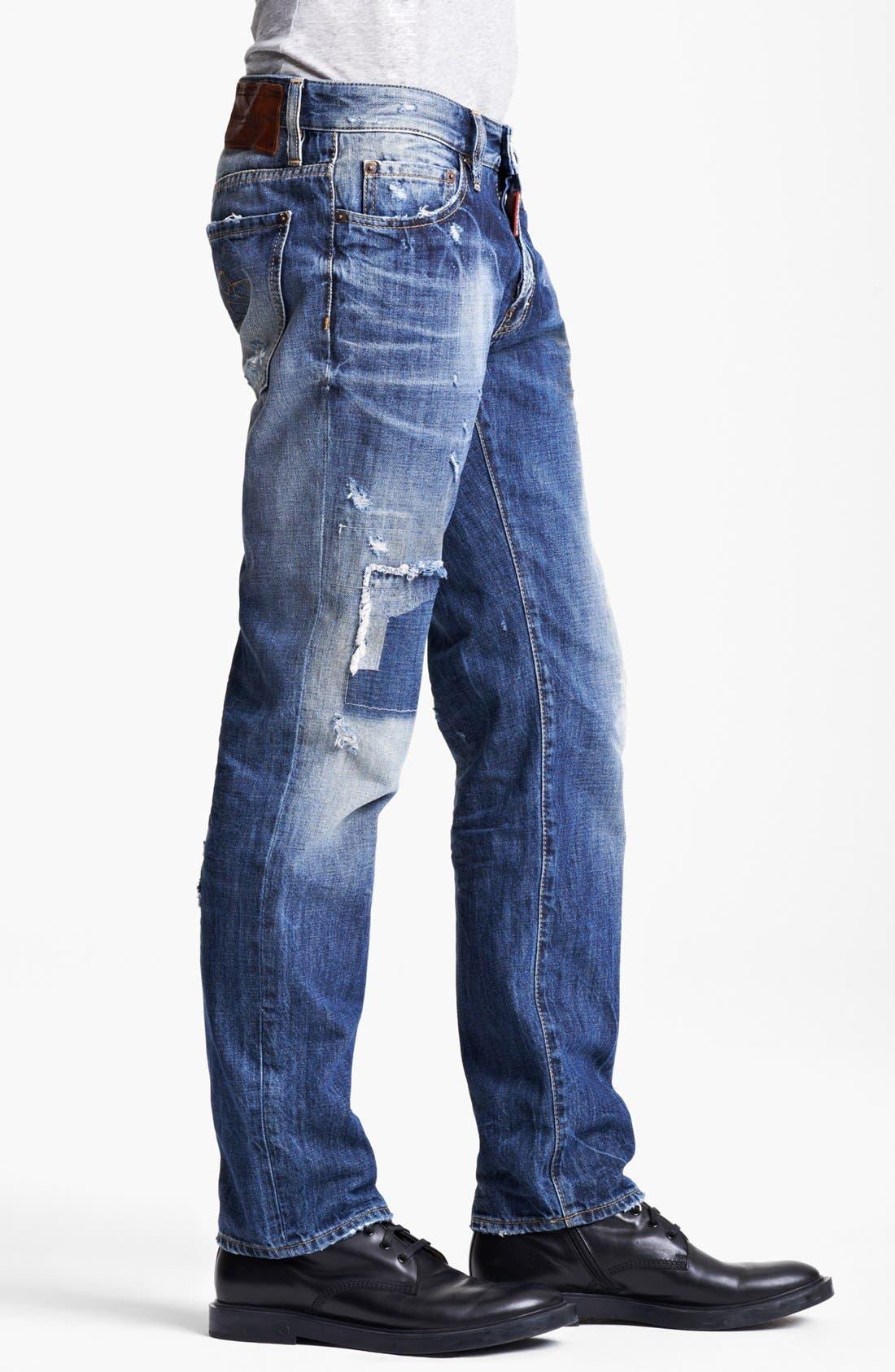 Alternate Image 3  - Dsquared2 'Dean' Slim Fit Jeans (Distressed Blue)