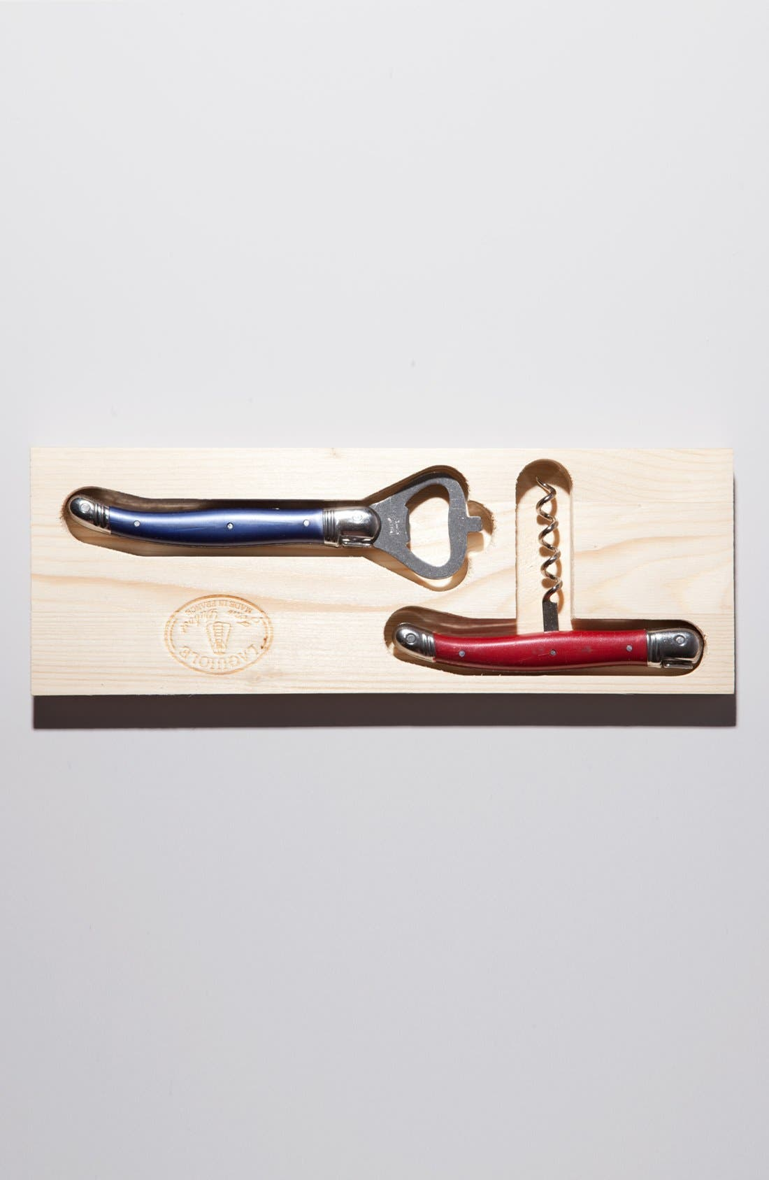 Alternate Image 2 Selected - Laguiole by Jean Dubost Corkscrew & Bottle Opener Set