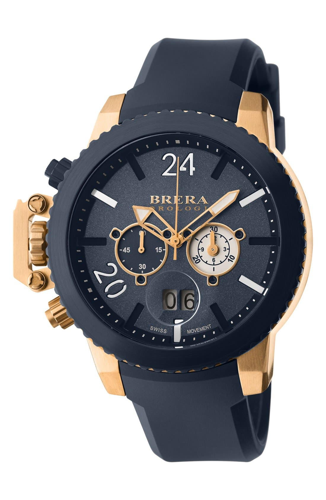 Alternate Image 1 Selected - Brera 'Militare II' Round Chronograph Watch, 48mm
