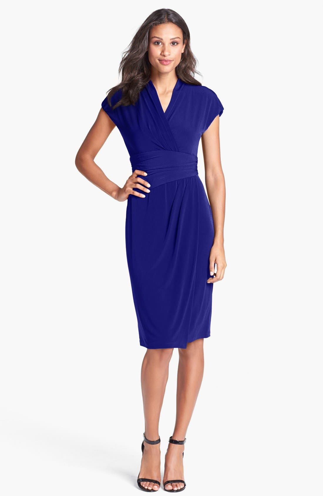 Alternate Image 3  - Ivy & Blu Ruched Faux Wrap Dress