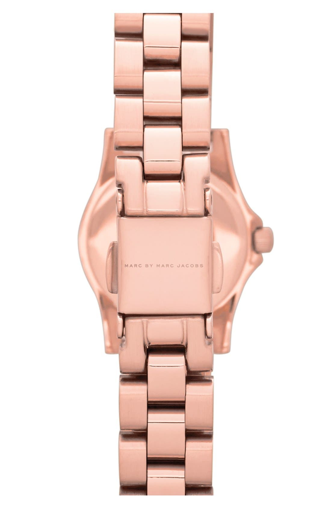 Alternate Image 2  - MARC JACOBS 'Henry Dinky' Crystal Bracelet Watch, 21mm