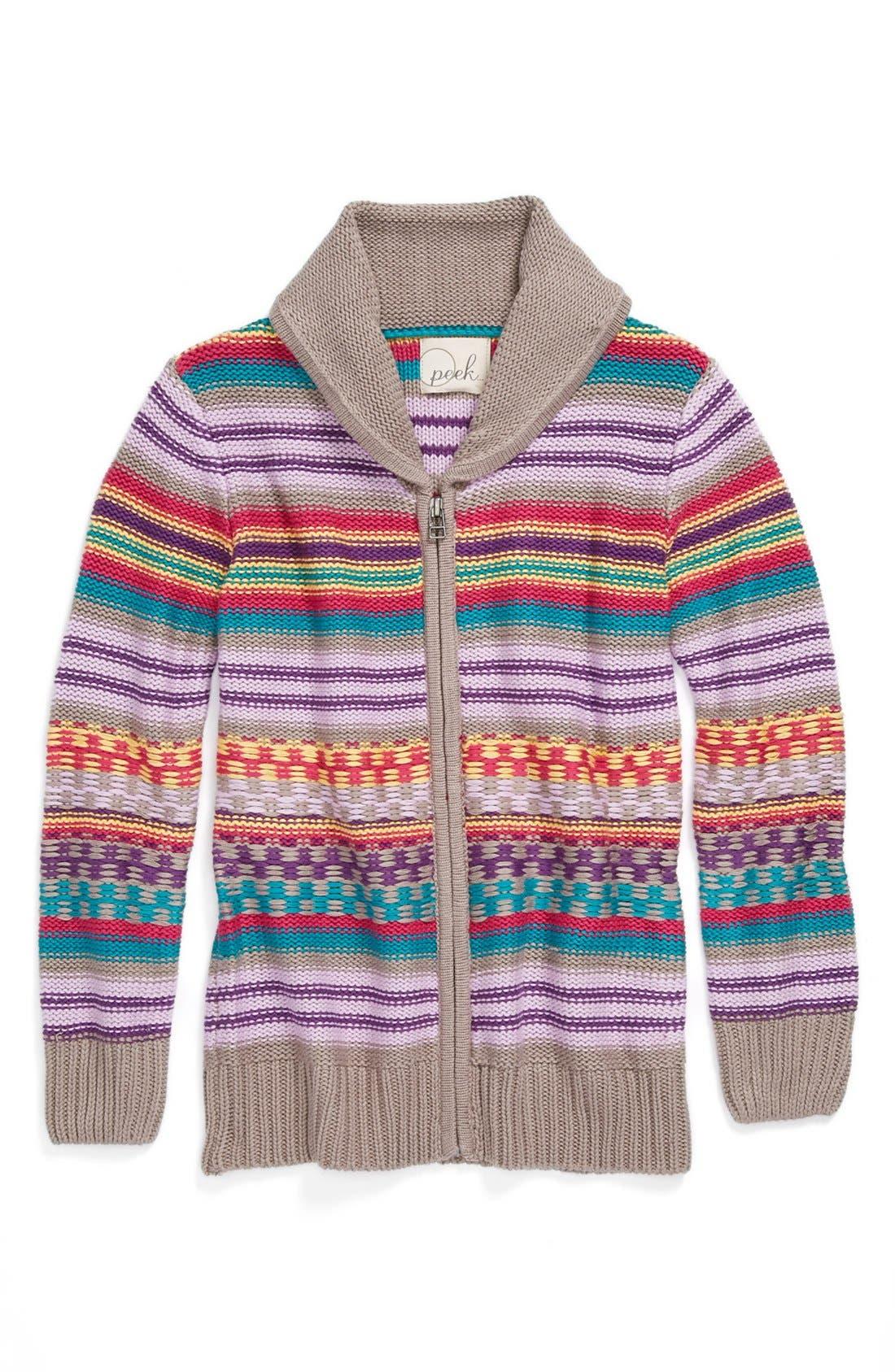Main Image - Peek 'Festival' Sweater (Toddler Girls, Little Girls & Big Girls)