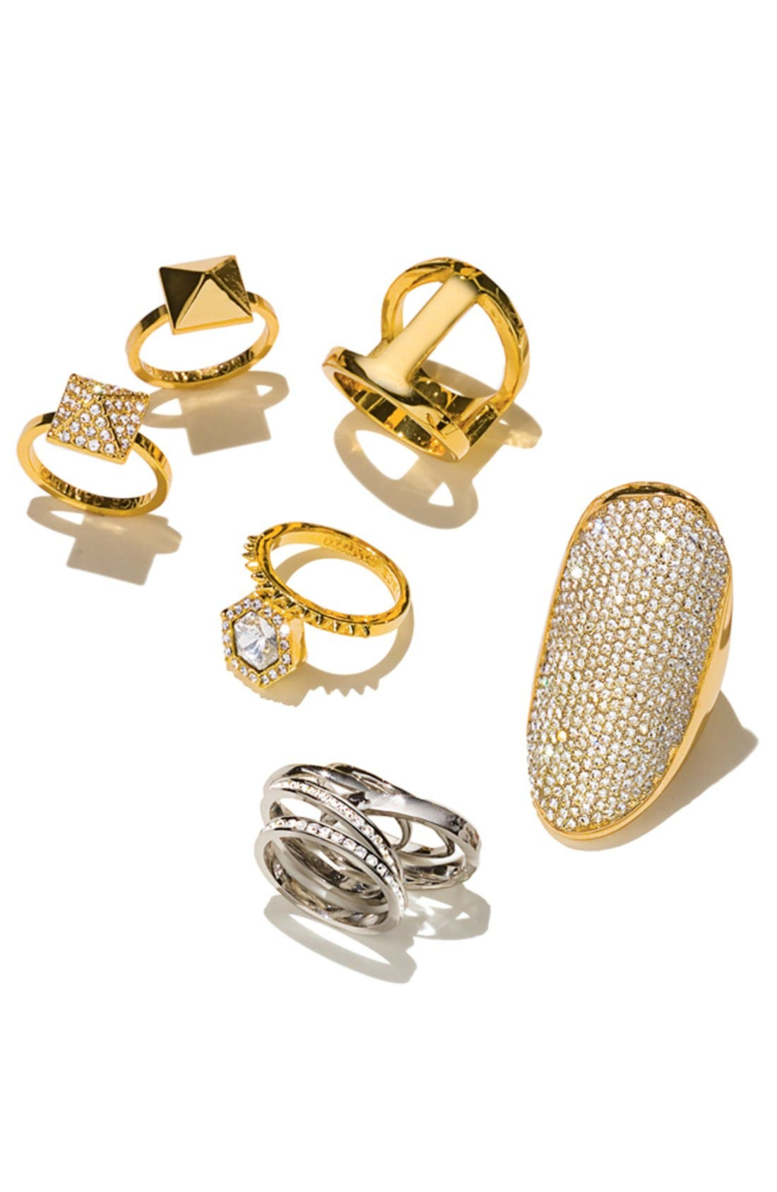 Alternate Image 2  - Vince Camuto 'Diamonds in the Sky' Stackable Rings (Set of 2)