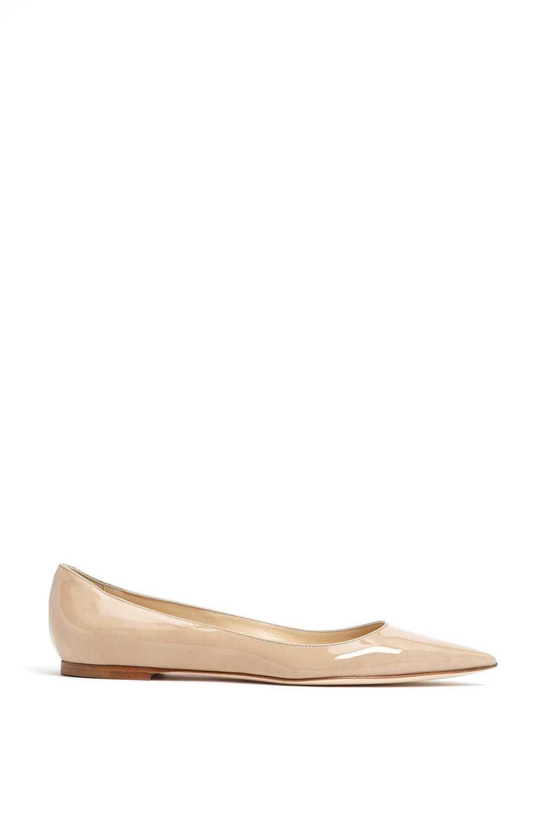 Alternate Image 4  - Jimmy Choo 'Alina' Pointy Toe Flat (Women)