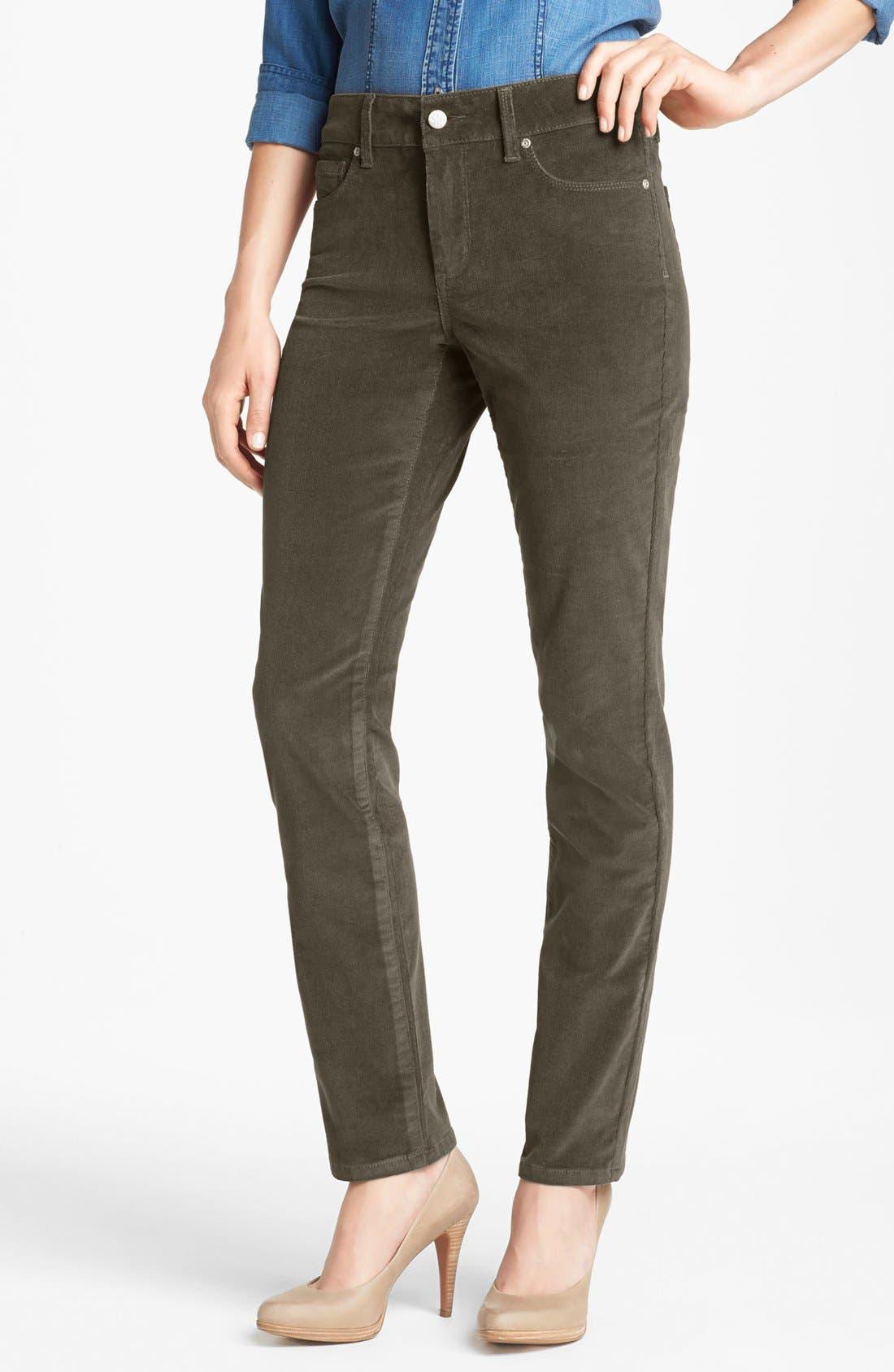 Alternate Image 1  - NYDJ 'Sheri' Colored Stretch Corduroy Skinny Pants (Regular & Petite)