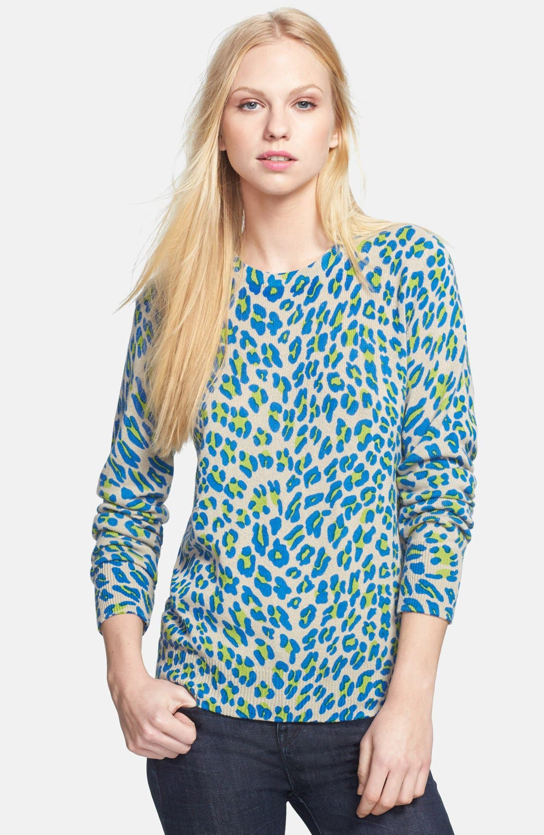Main Image - Equipment 'Shane' Leopard Spot Cashmere Sweater