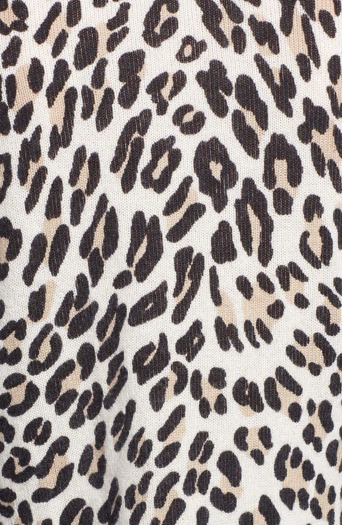 Alternate Image 3  - Equipment 'Shane' Leopard Spot Cashmere Sweater