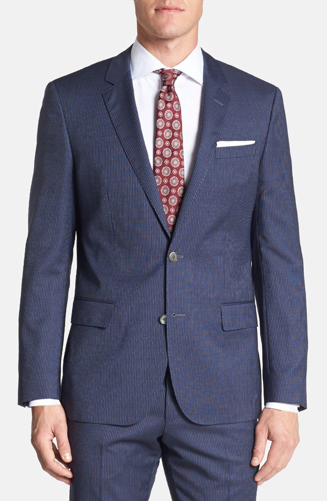 Alternate Image 3  - BOSS HUGO BOSS 'Hutson/Gander' Trim Fit Stripe Suit
