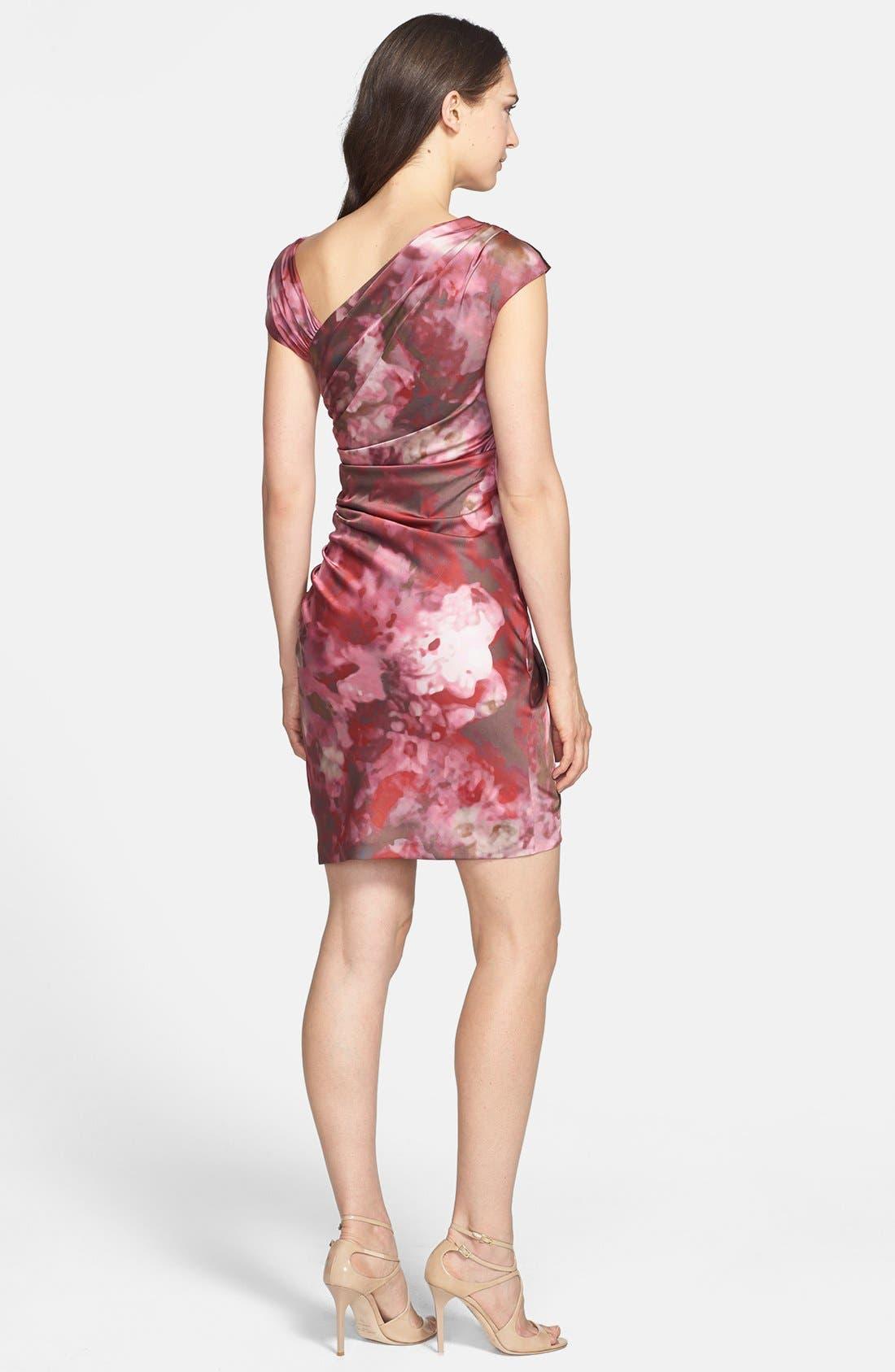 Alternate Image 2  - Vera Wang Print Asymmetrical Crepe Sheath Dress