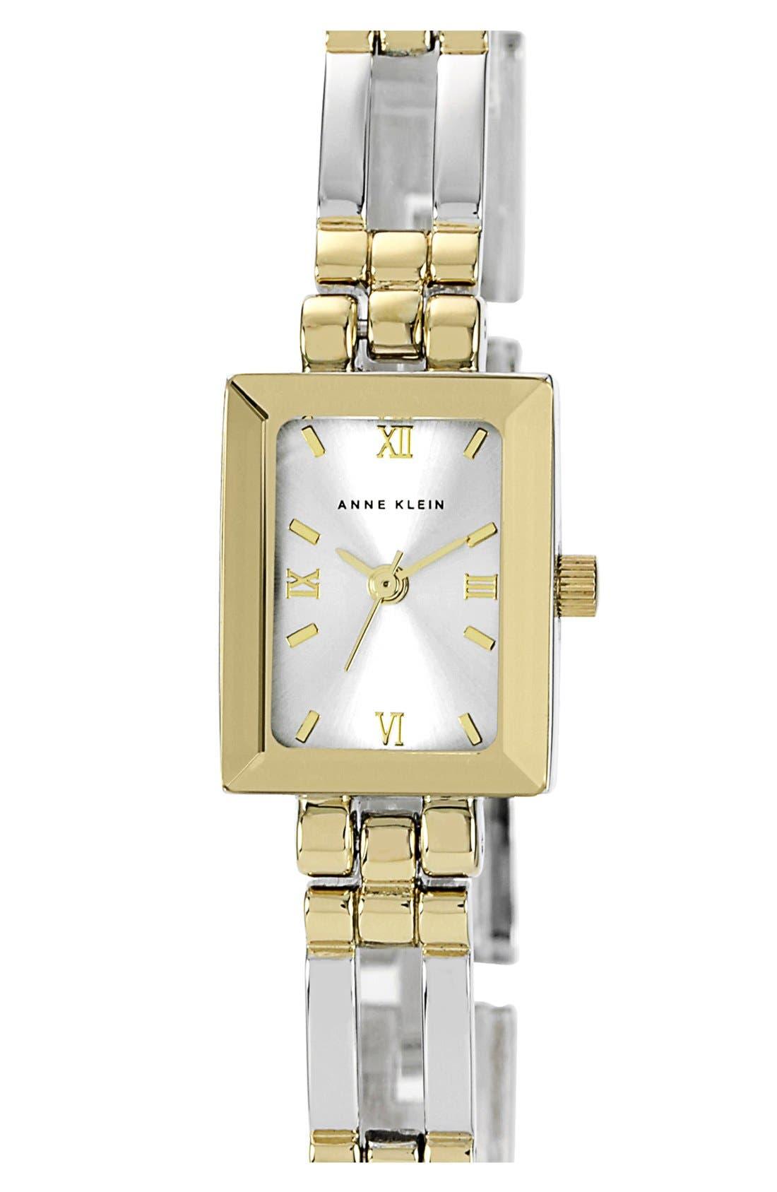 Main Image - Anne Klein Square Case Bracelet Watch, 12mm x 16mm