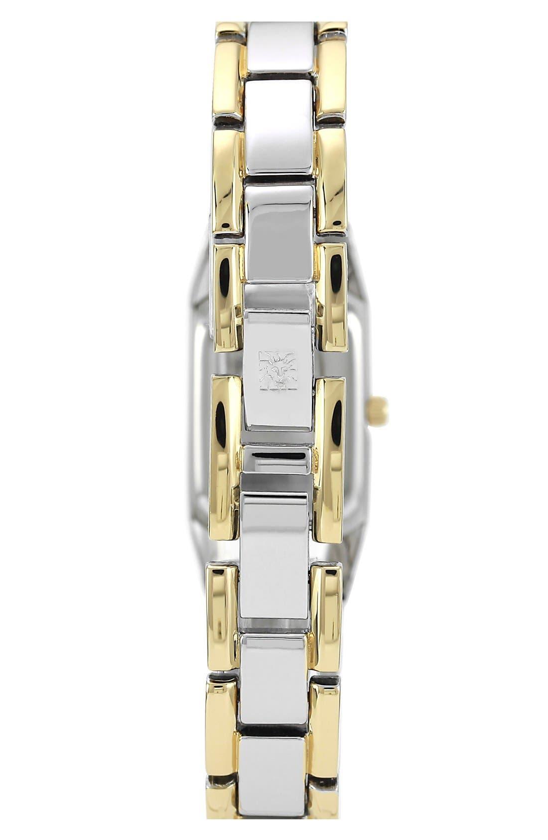 Alternate Image 2  - Anne Klein Two Tone Bracelet Watch, 19mm