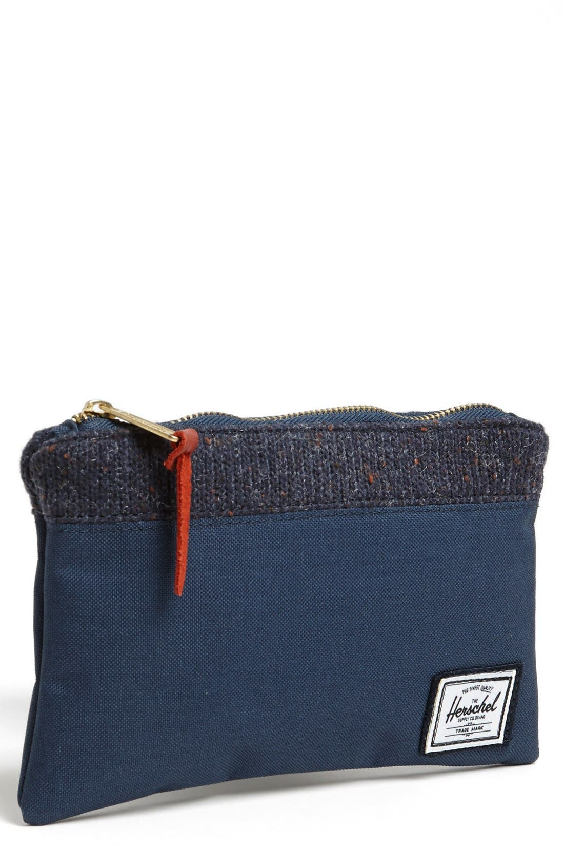 Alternate Image 1 Selected - Herschel Supply Co. Knit Trim Field Pouch