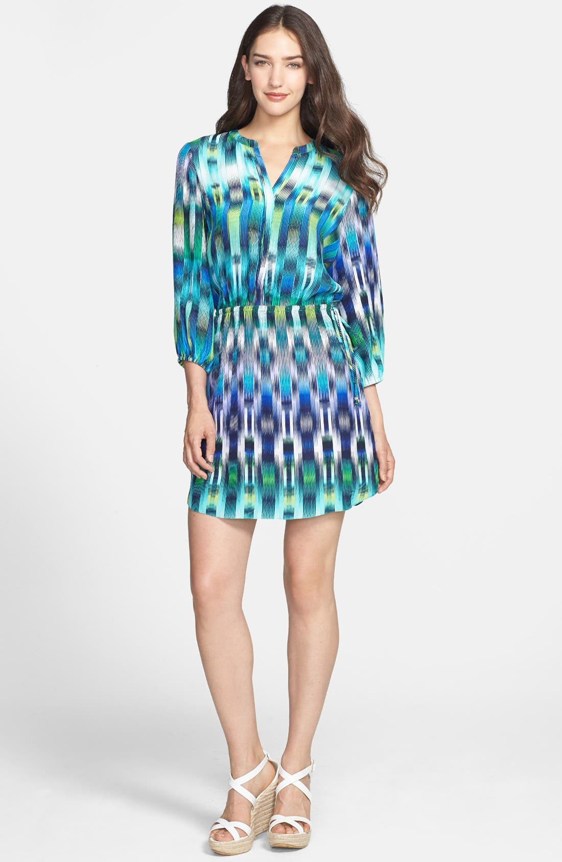 Main Image - ALICE & TRIXIE 'Robin' Print Silk Shirtdress