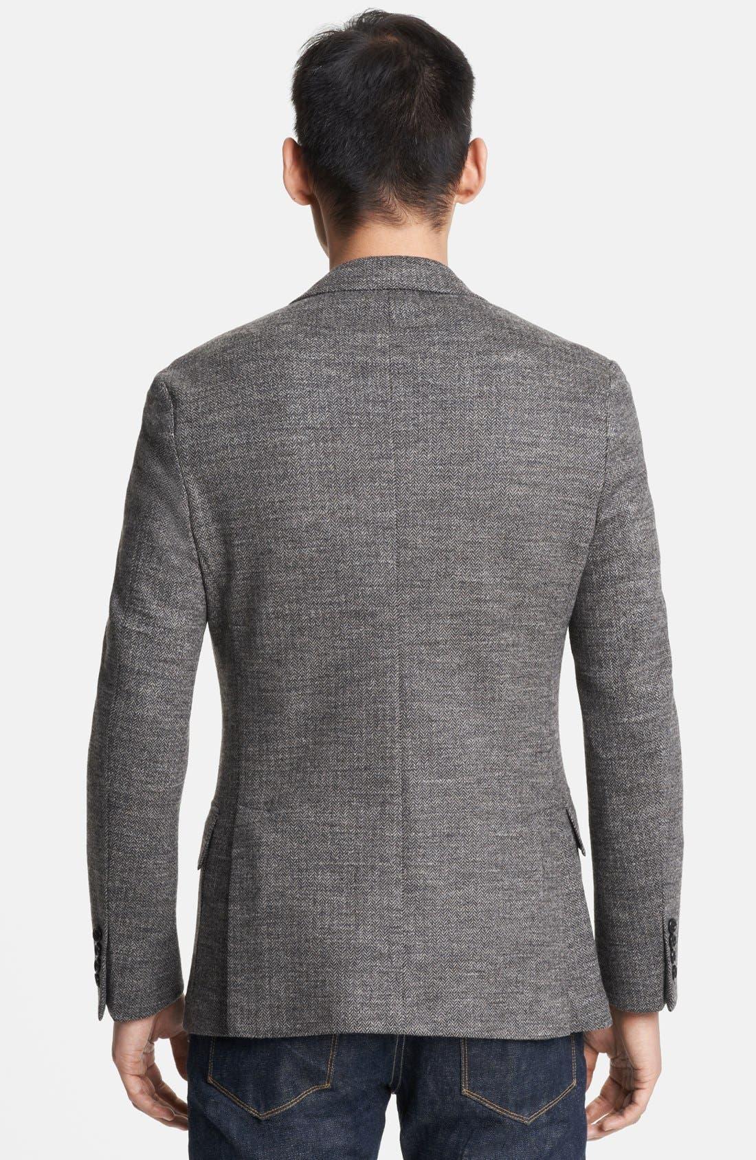 Alternate Image 3  - Todd Snyder Grey Wool Herringbone Blazer