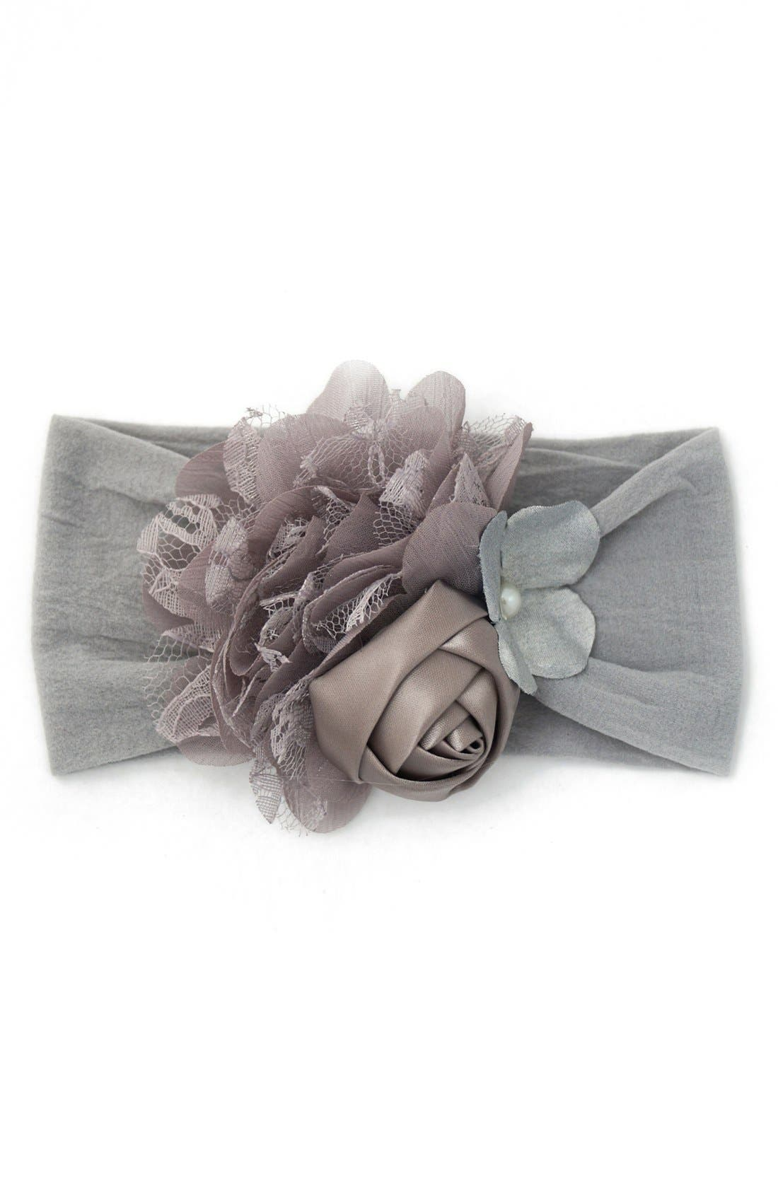 Alternate Image 1 Selected - Baby Bling 'Vintage Collage' Headband (Baby Girls)