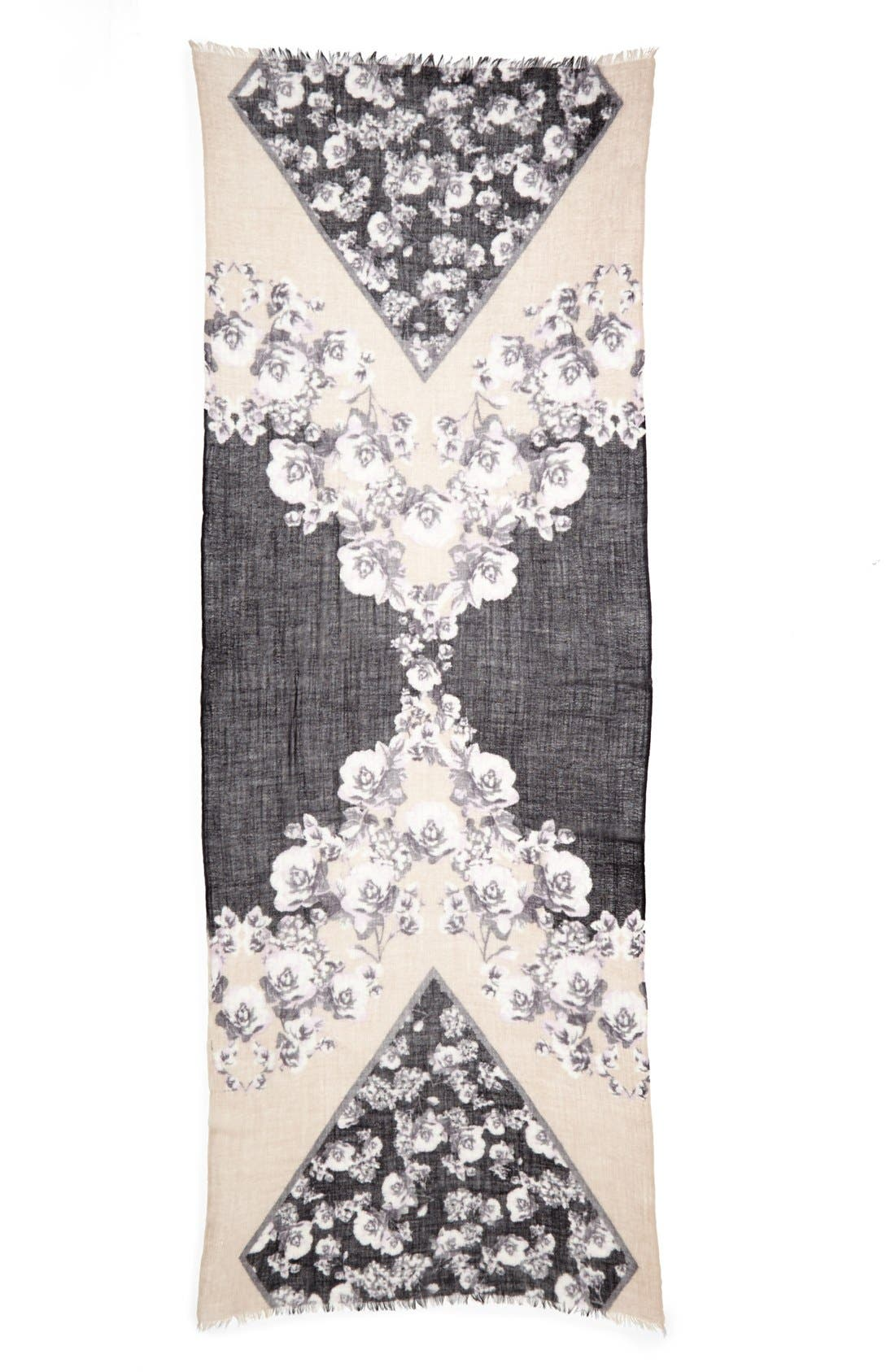 Alternate Image 2  - Nordstrom 'Coming Up Roses' Scarf