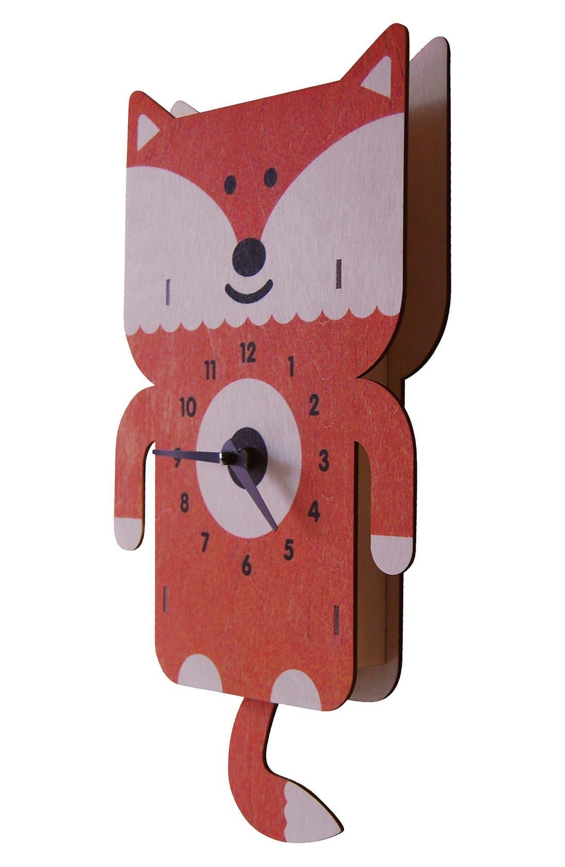 Alternate Image 2  - Modern Moose 'Fox' Pendulum Clock