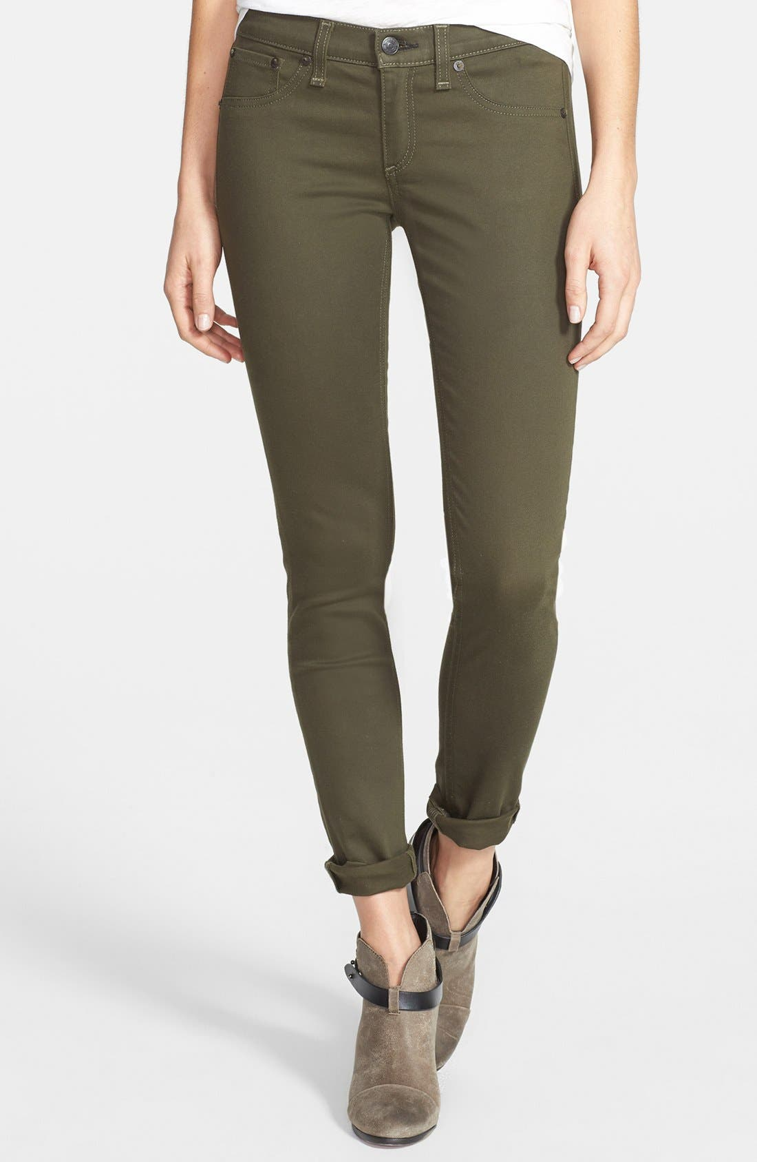 Alternate Image 1 Selected - rag & bone/JEAN 'The Legging' Sateen Skinny Jeans (Army Sateen)