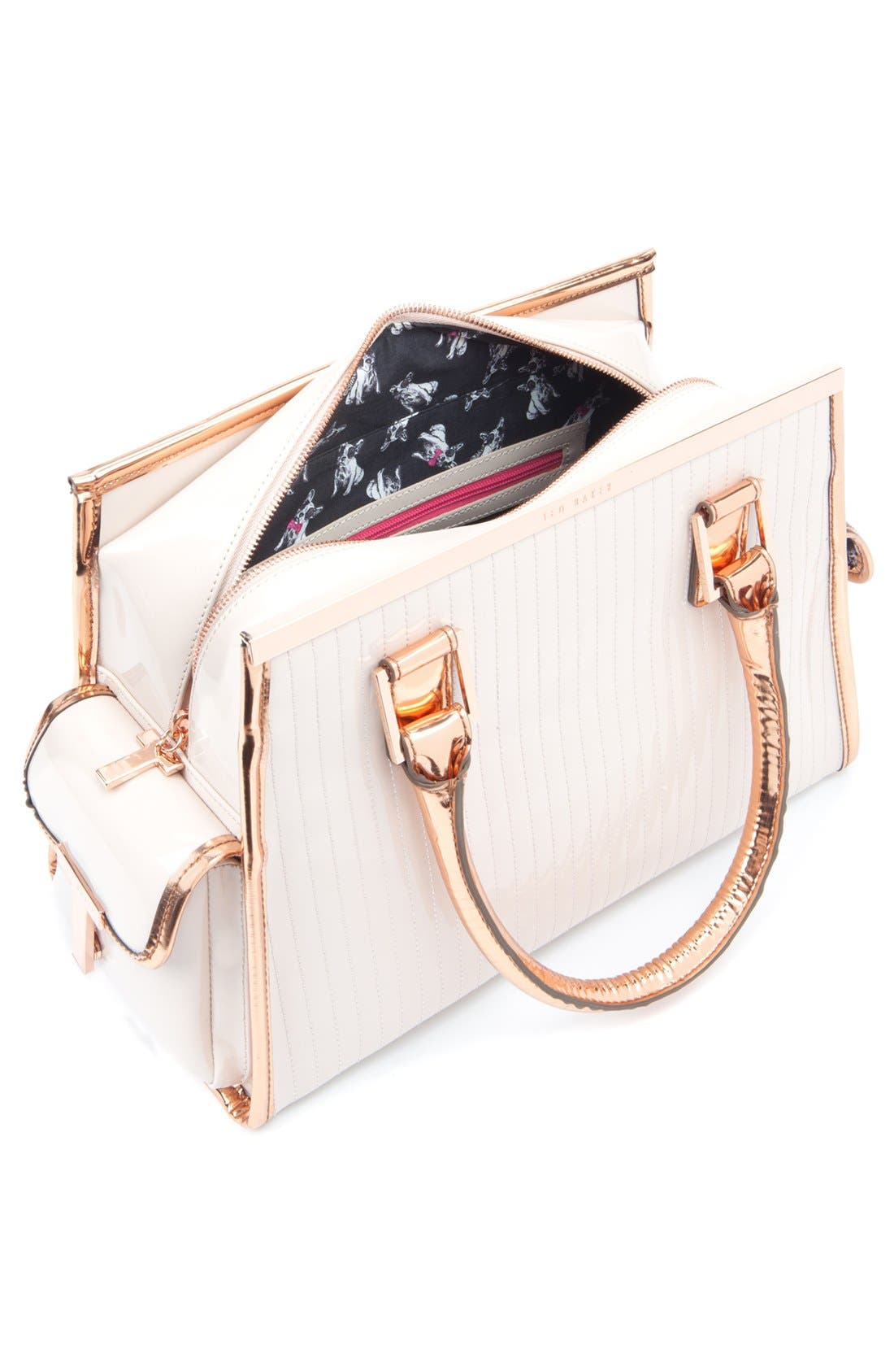 Alternate Image 2  - Ted Baker London Quilted Patent Leather Tote