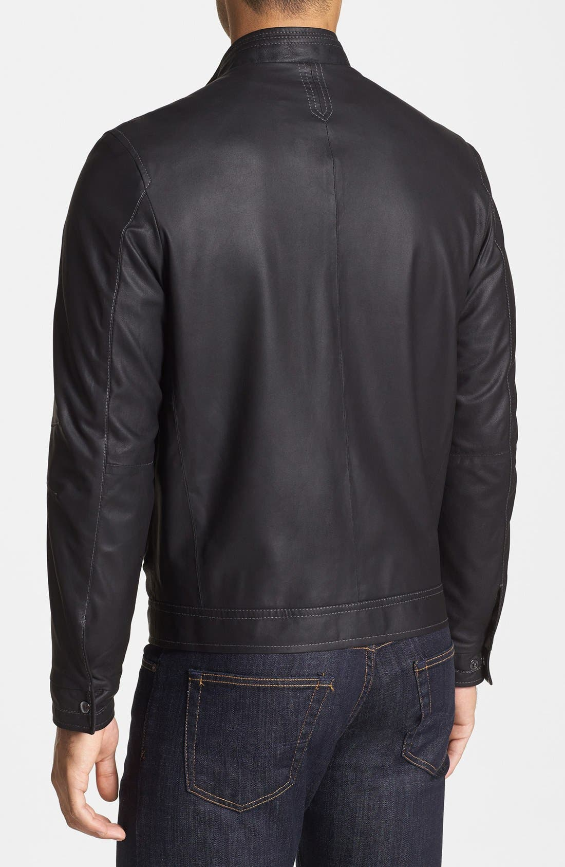 Alternate Image 2  - Remy Leather Zip Front Leather Jacket