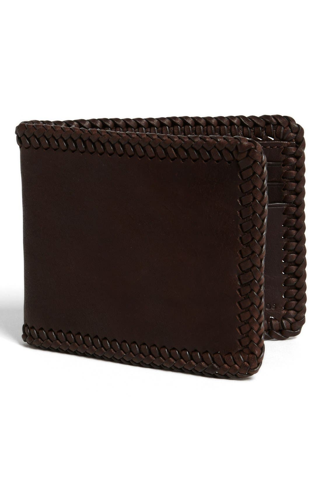 Main Image - John Varvatos Collection Braided Leather Wallet