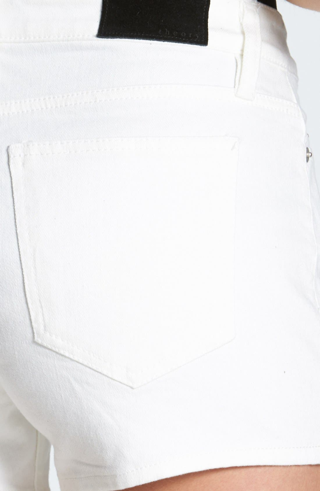 Alternate Image 3  - Theory 'Mikee' Denim Shorts (White)