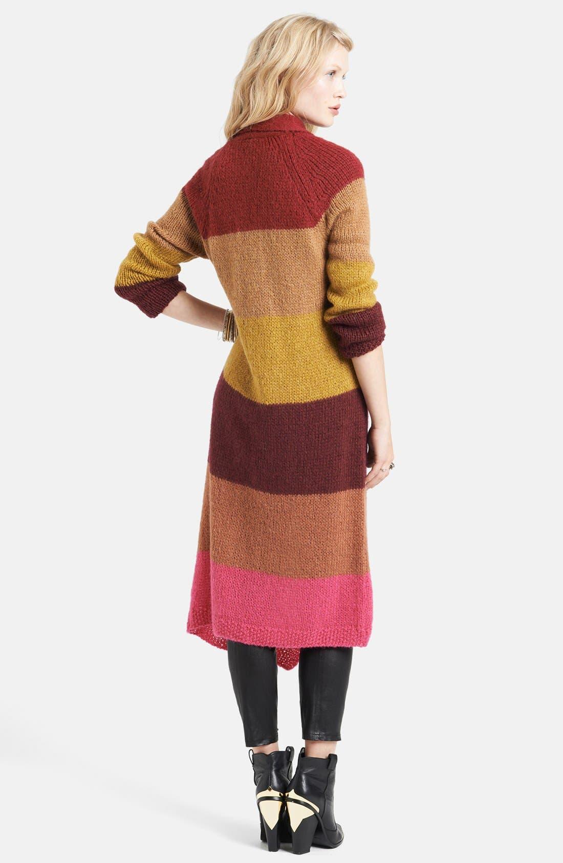 Alternate Image 2  - Free People Stripe Long Cardigan