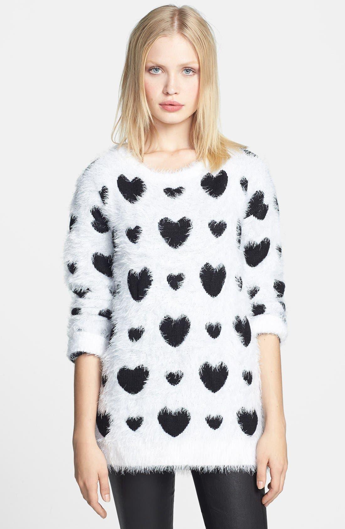 Main Image - Robbi & Nikki Textured Heart Sweater
