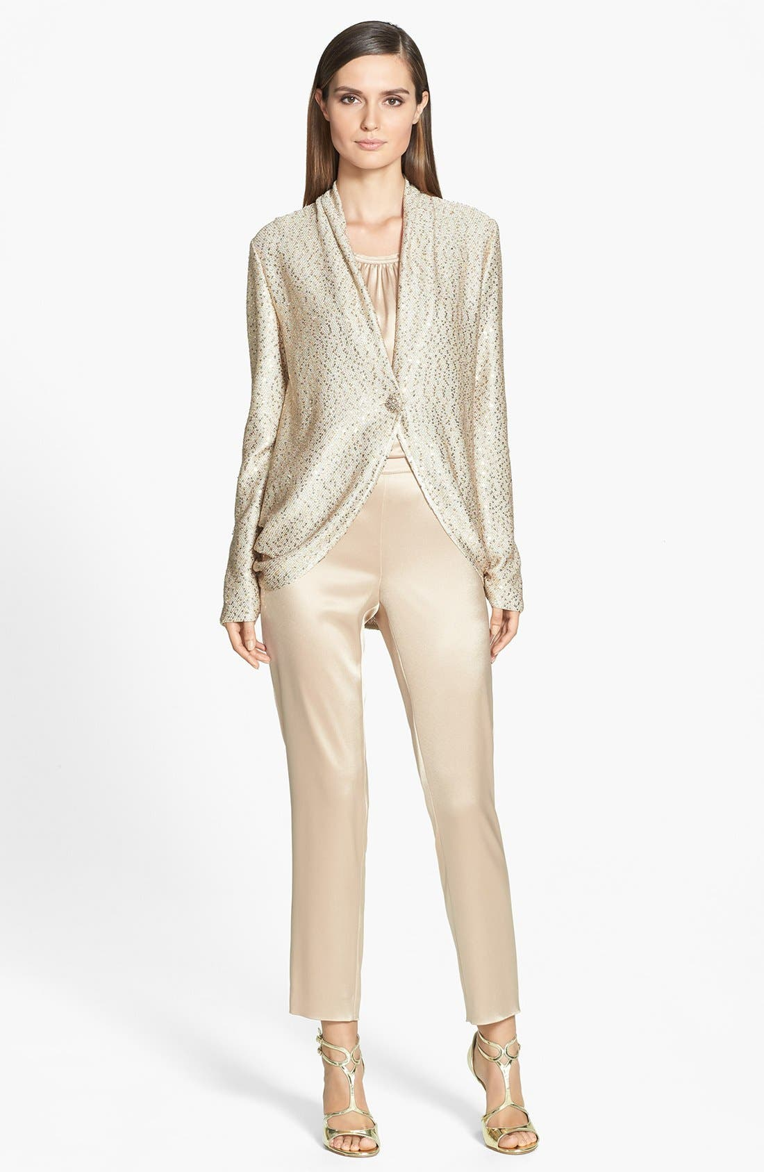 Alternate Image 2  - St. John Collection Sequin Ruched Knit Cardigan