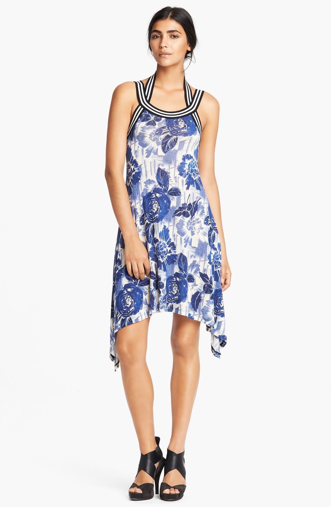 Main Image - Jean Paul Gaultier Rose Print Jersey Tank Dress