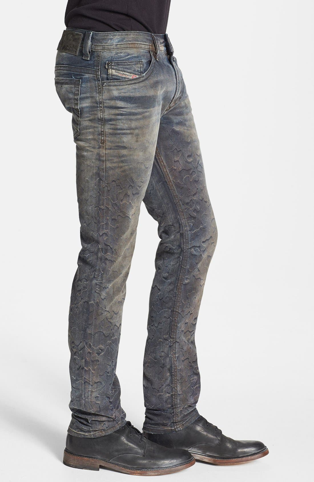 Alternate Image 3  - DIESEL® 'Thavar' Skinny Fit Jeans (0821C)