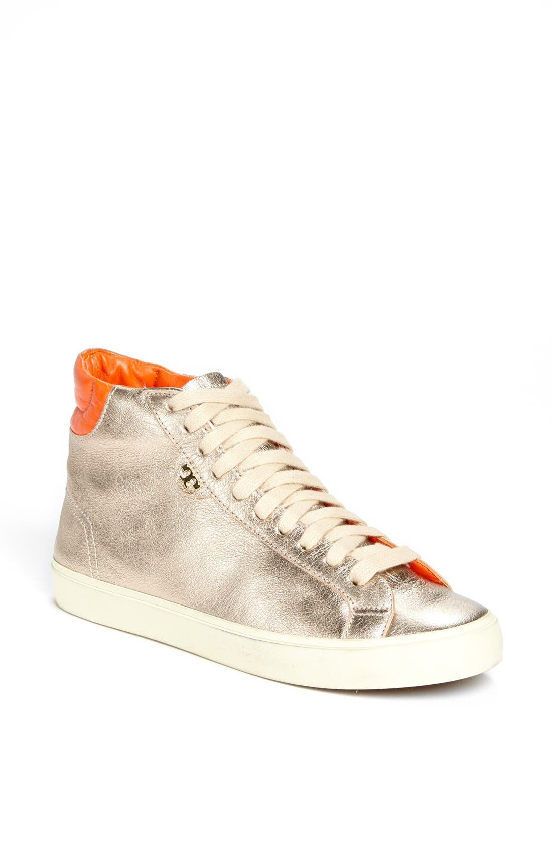Alternate Image 1 Selected - Tory Burch 'Caleb' High Top Leather Sneaker