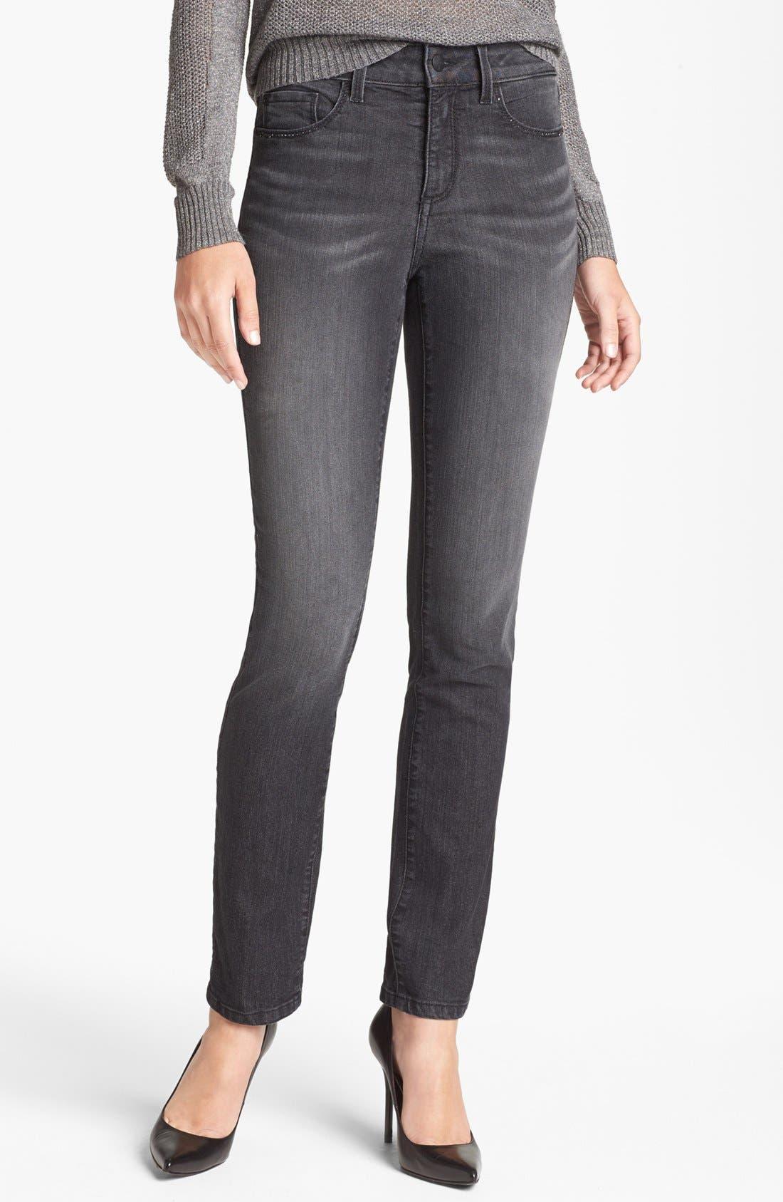 Alternate Image 1 Selected - NYDJ 'Alina' Stretch Skinny Jeans (Raven)