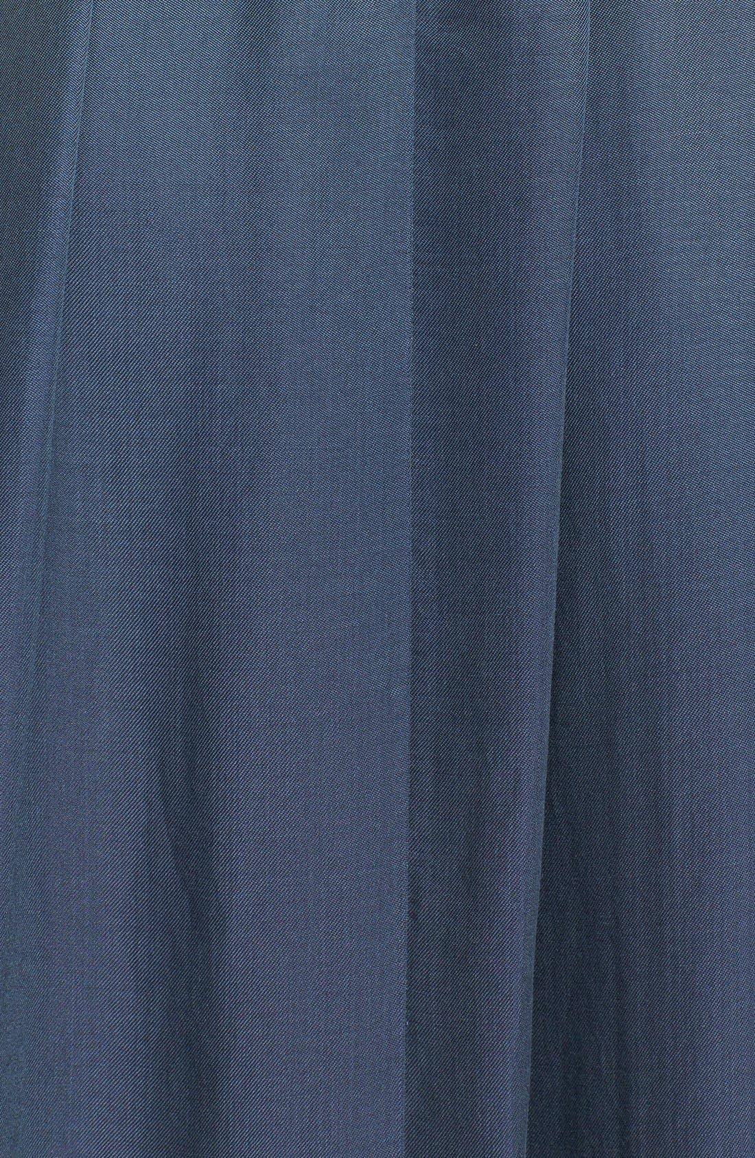 Alternate Image 3  - Rebecca Taylor Strapless Leather Panel Maxi Dress