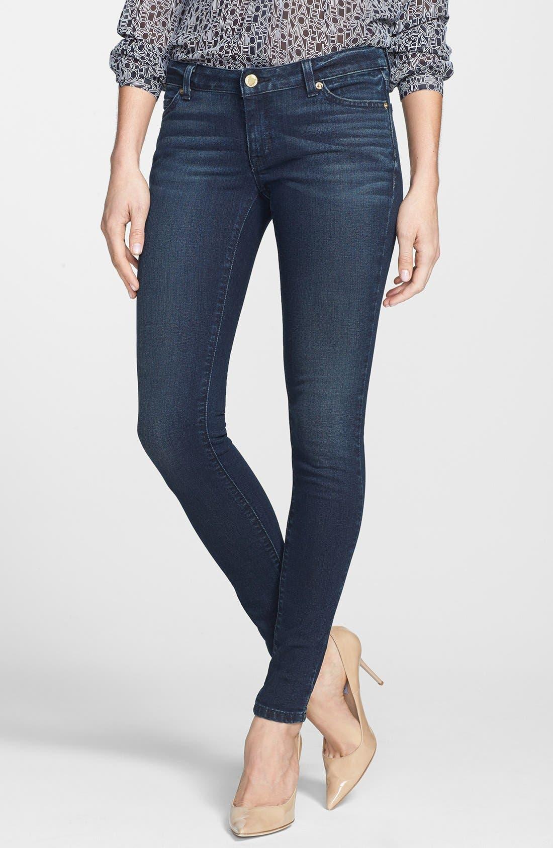 Alternate Image 1 Selected - MICHAEL Michael Kors 'Jetset' Stretch Skinny Jeans (Stellar)