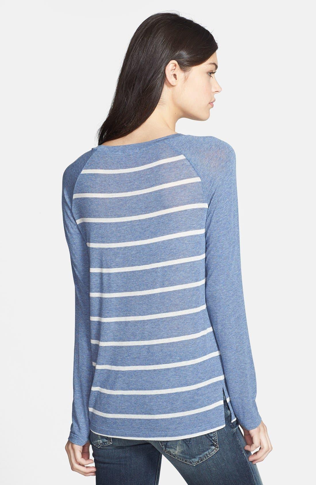 Alternate Image 2  - Splendid Stripe Raglan Sleeve Top