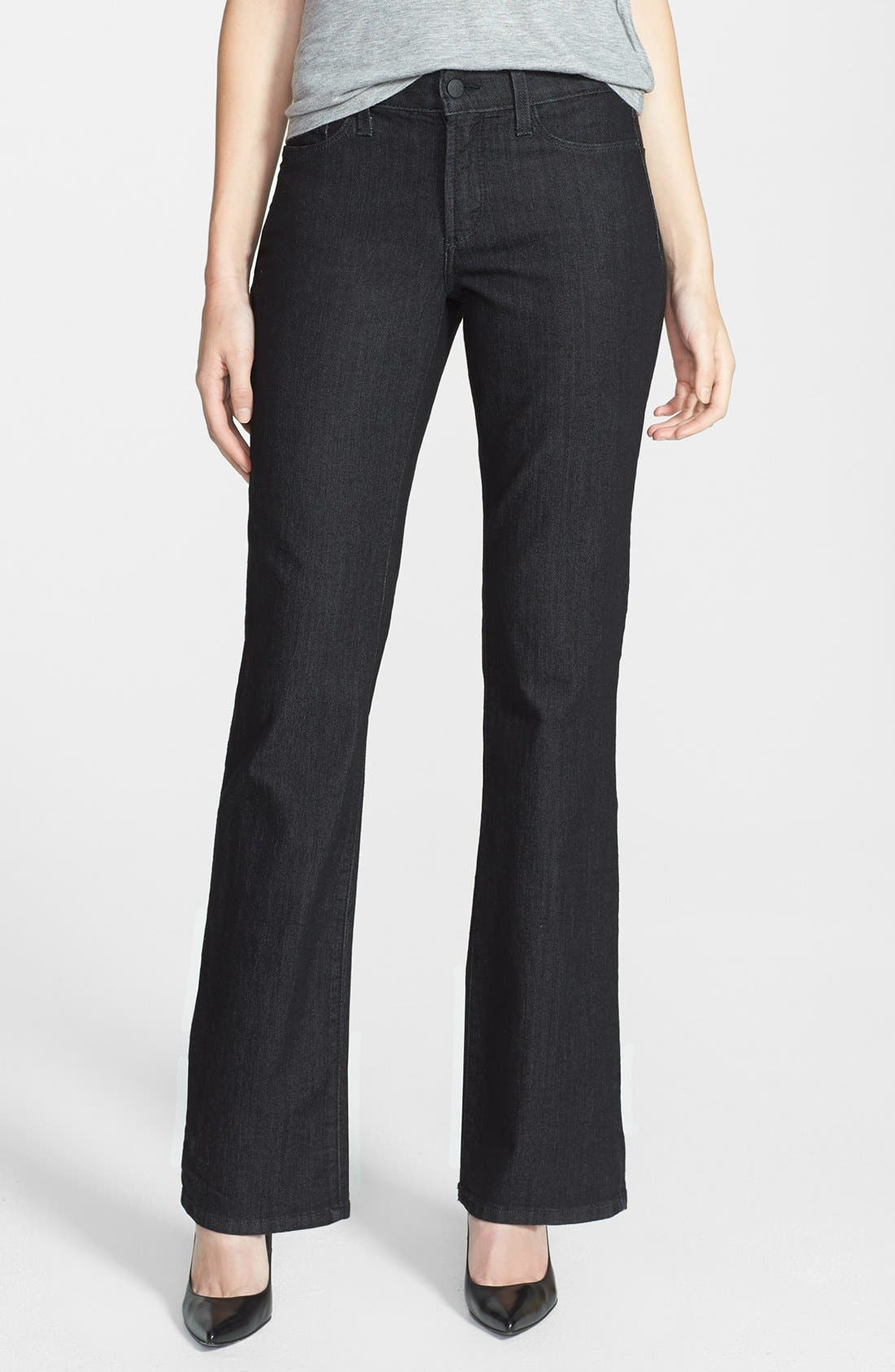 Alternate Image 1 Selected - NYDJ 'Barbara' Stretch Bootcut Jeans (Dark Enzyme)