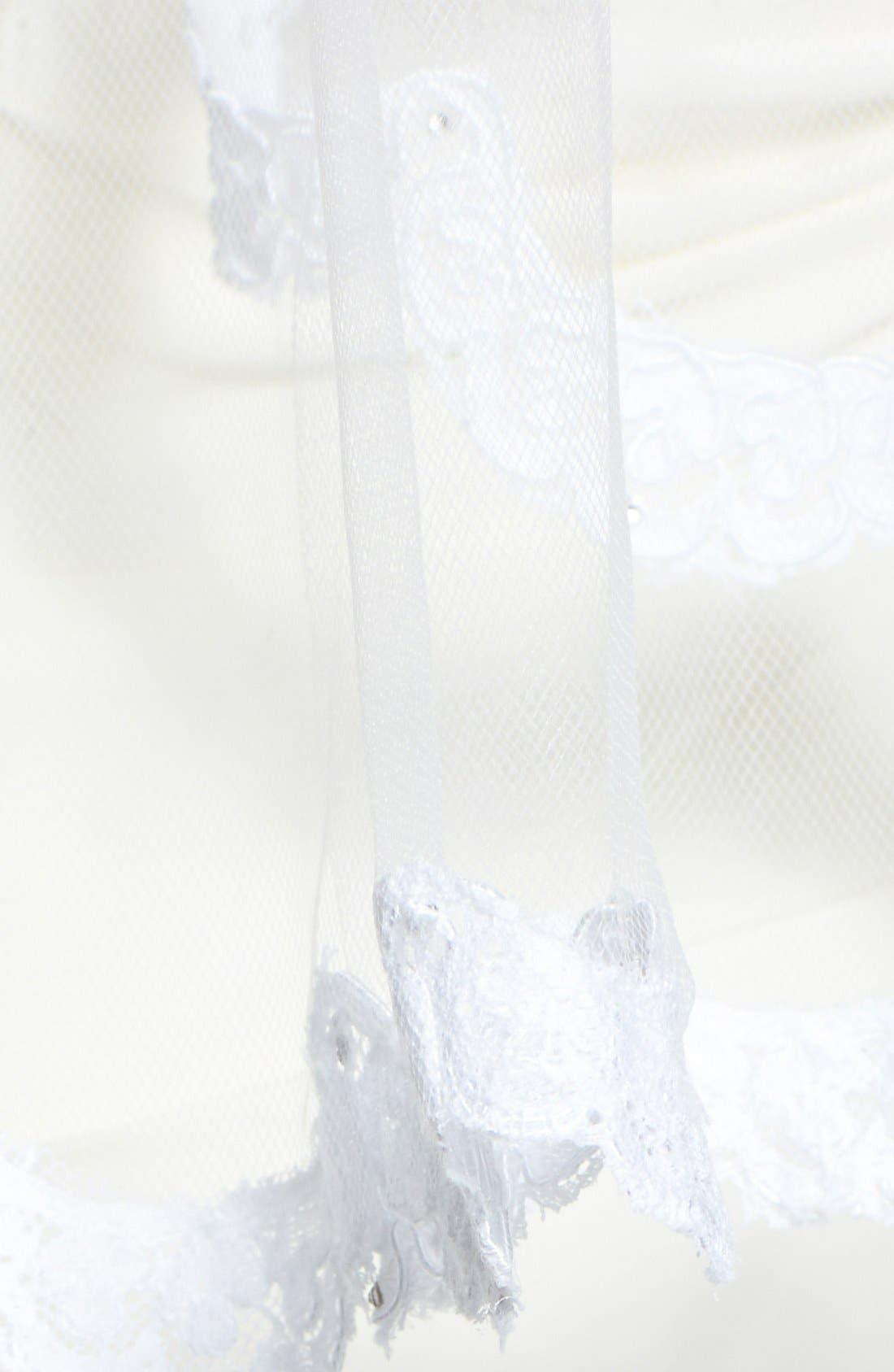 Alternate Image 2  - Wedding Belles New York 'Lola - Swarovski Crystal' Lace Border Veil (Nordstrom Exclusive)