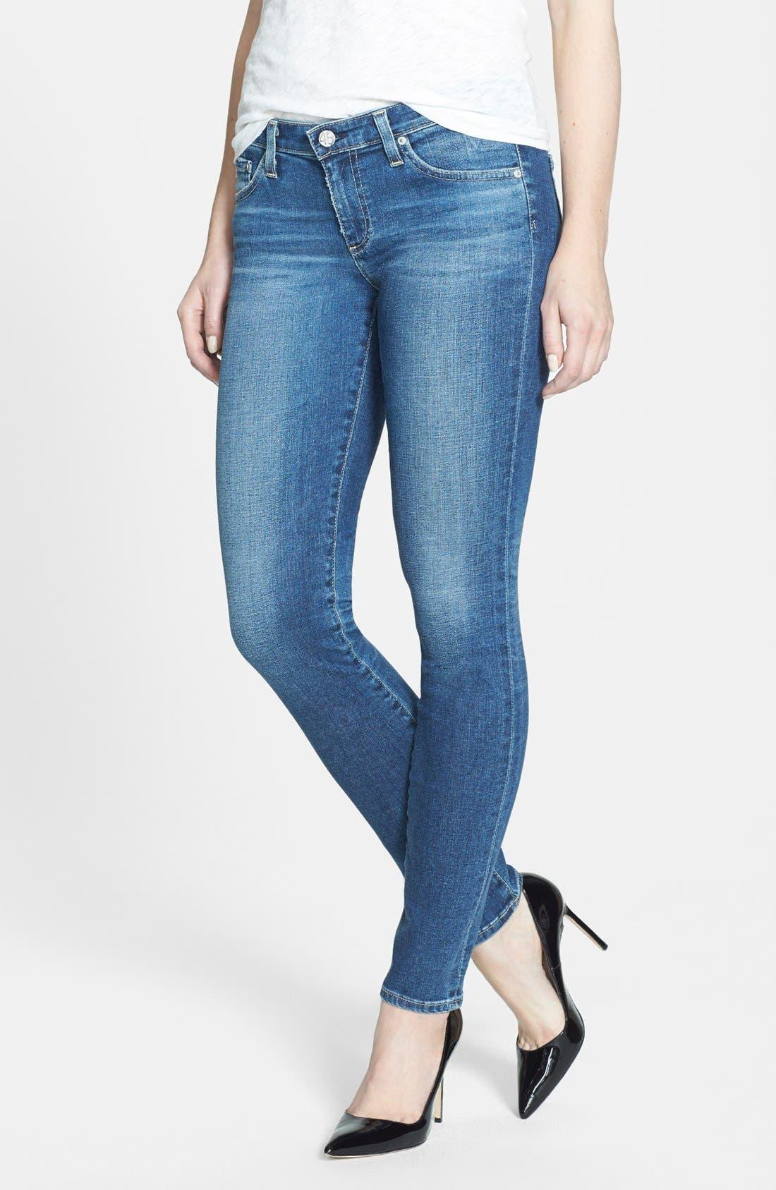 Alternate Image 1 Selected - AG 'The Stilt' Cigarette Leg Jeans (Eighteen Year)