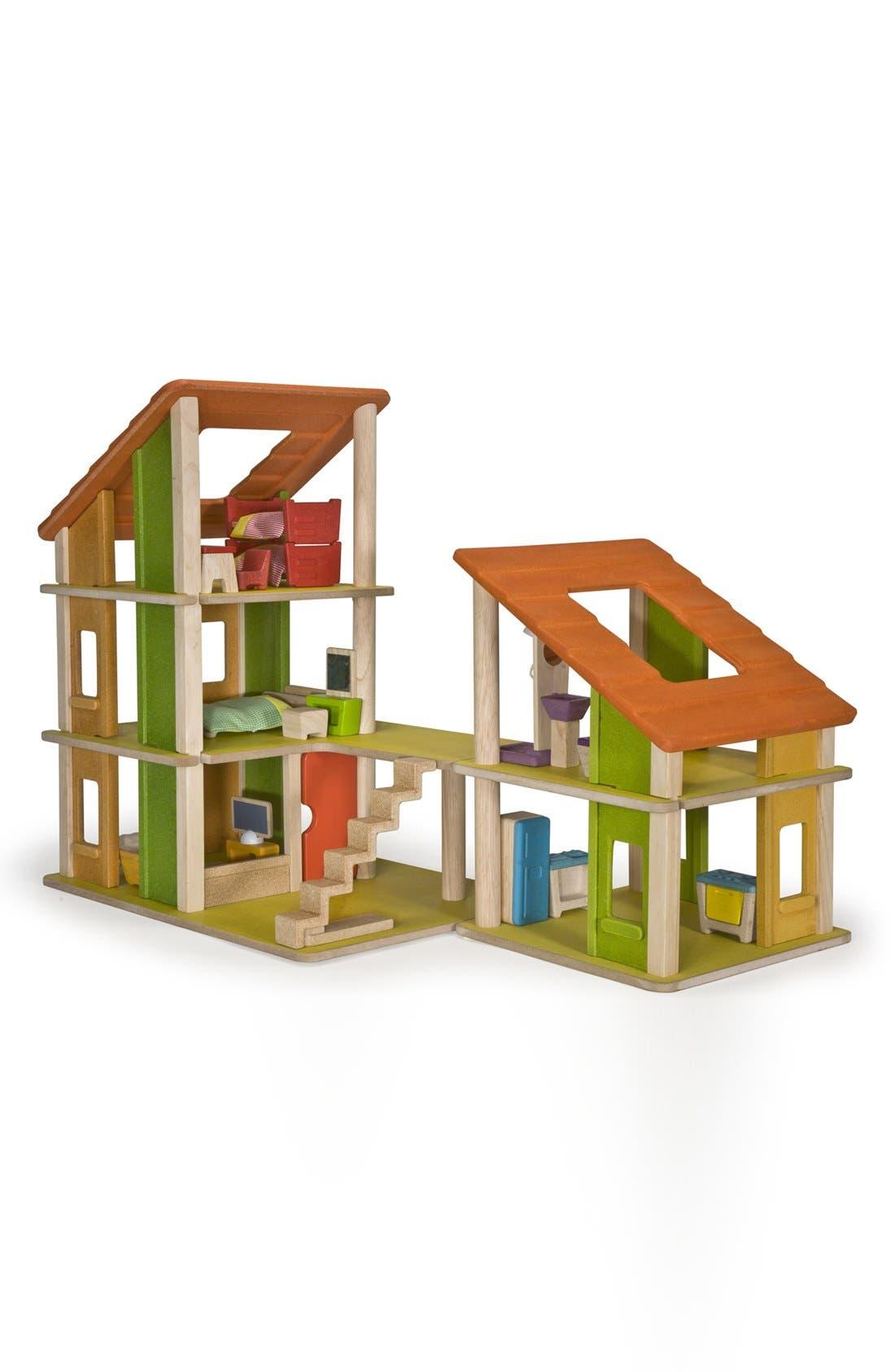 Alternate Image 1 Selected - PlanToys® 'Chalet' Wooden Dollhouse & Furniture